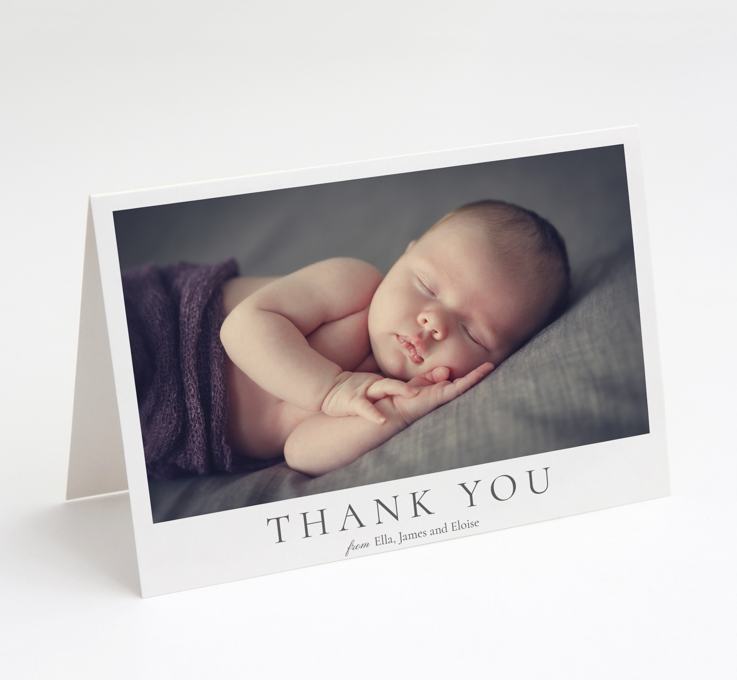Little One Folded Thank You Card