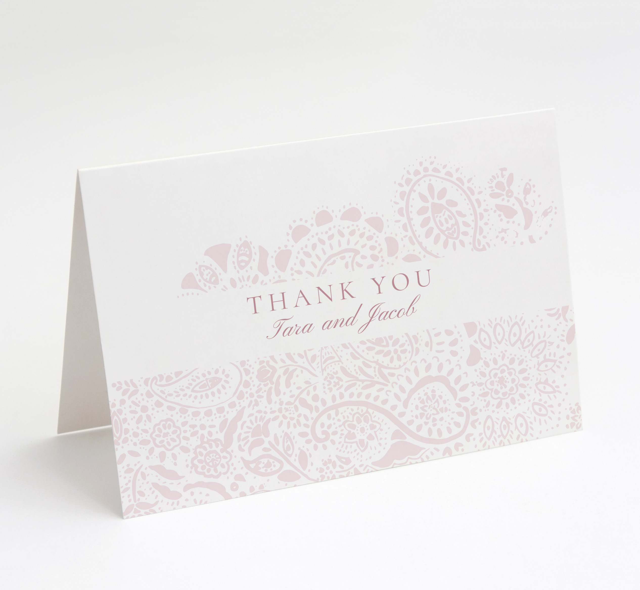 Blush Paisley Thank You Card