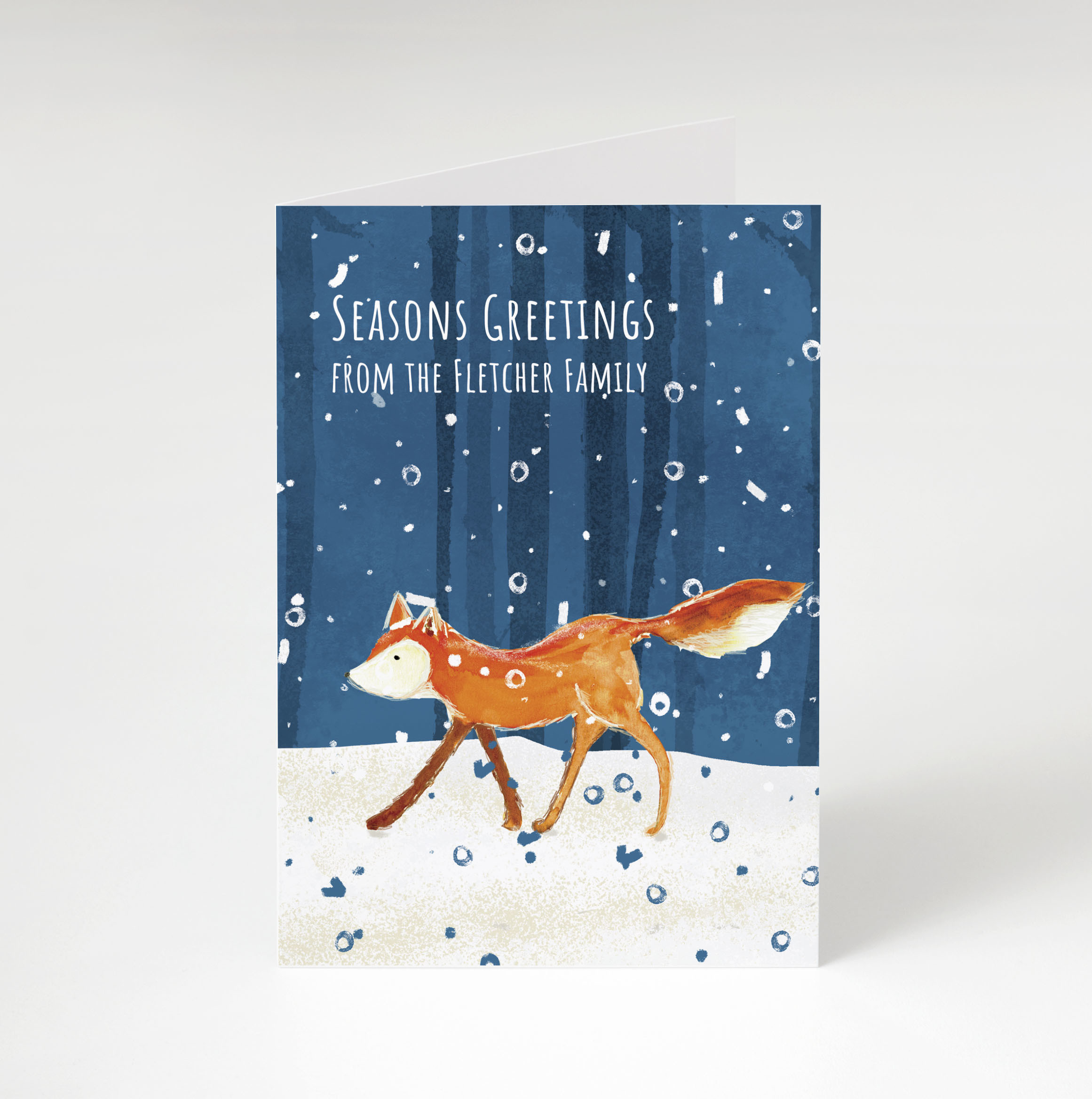Snow Fox Holiday Card
