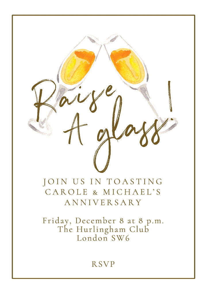 Raise a Glass Party Invitation