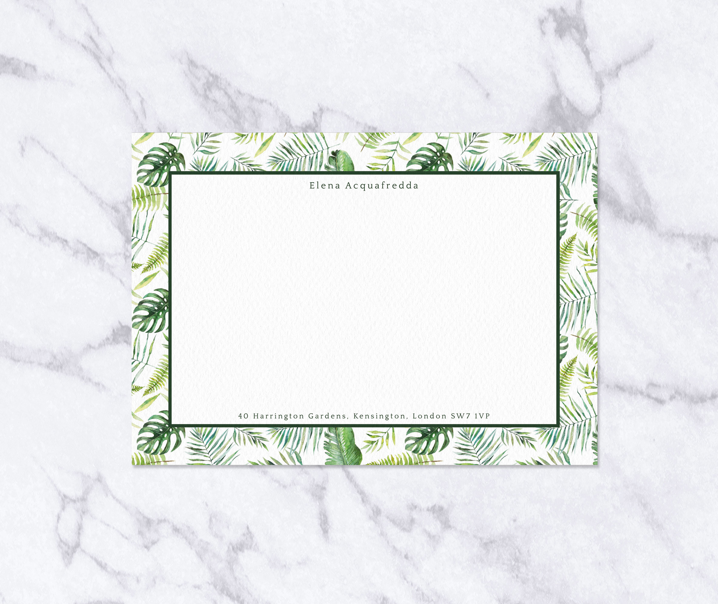 Tropical Greenery Notecard