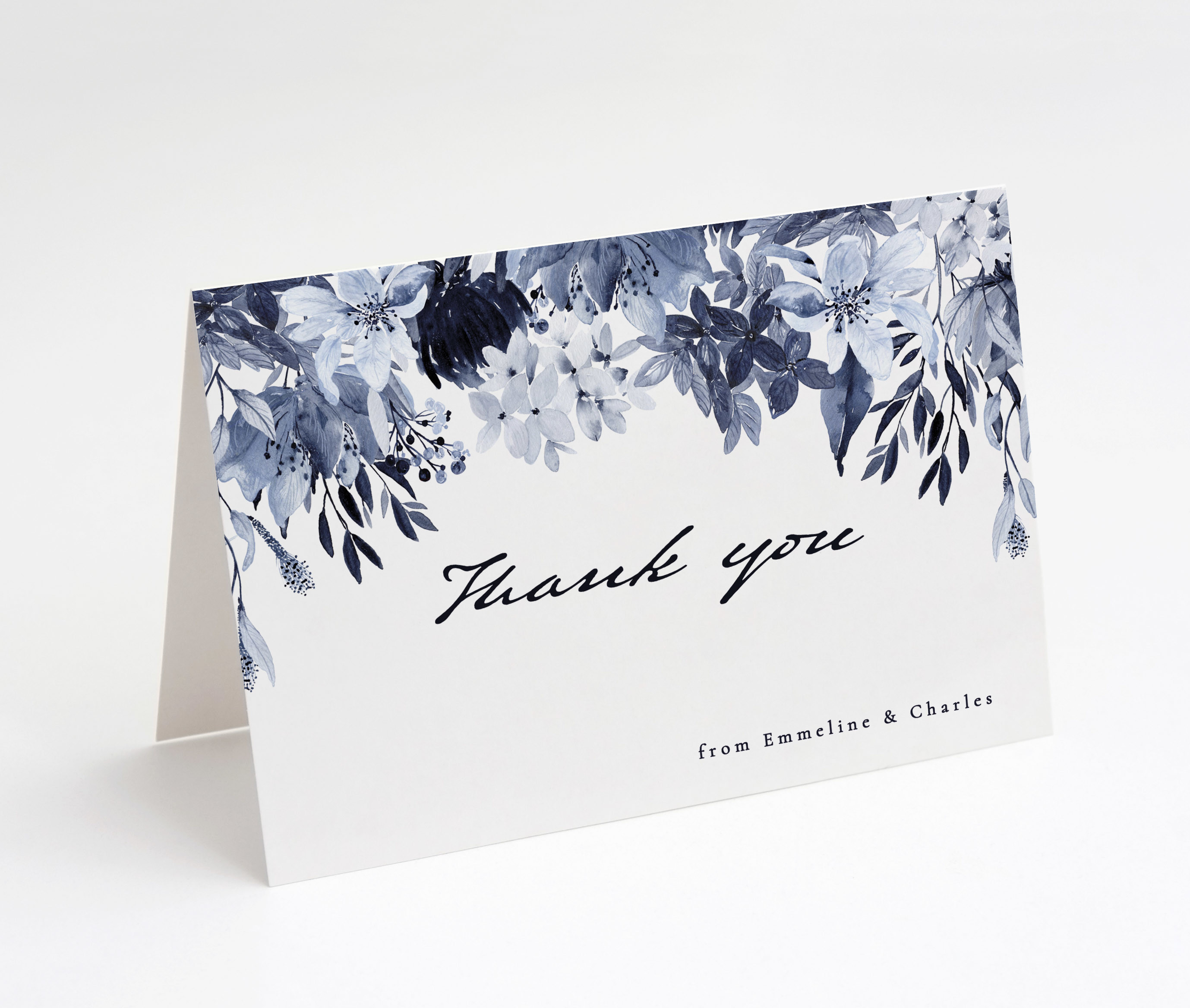 Porcelain Blue Thank You Card