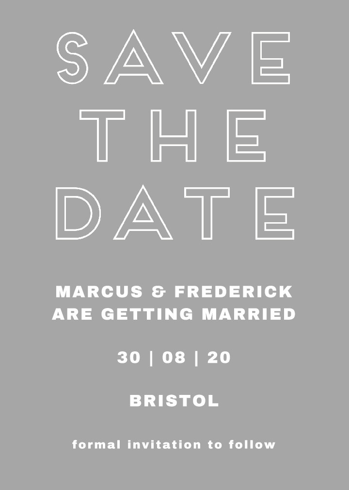 Modernist Grey Save the Date