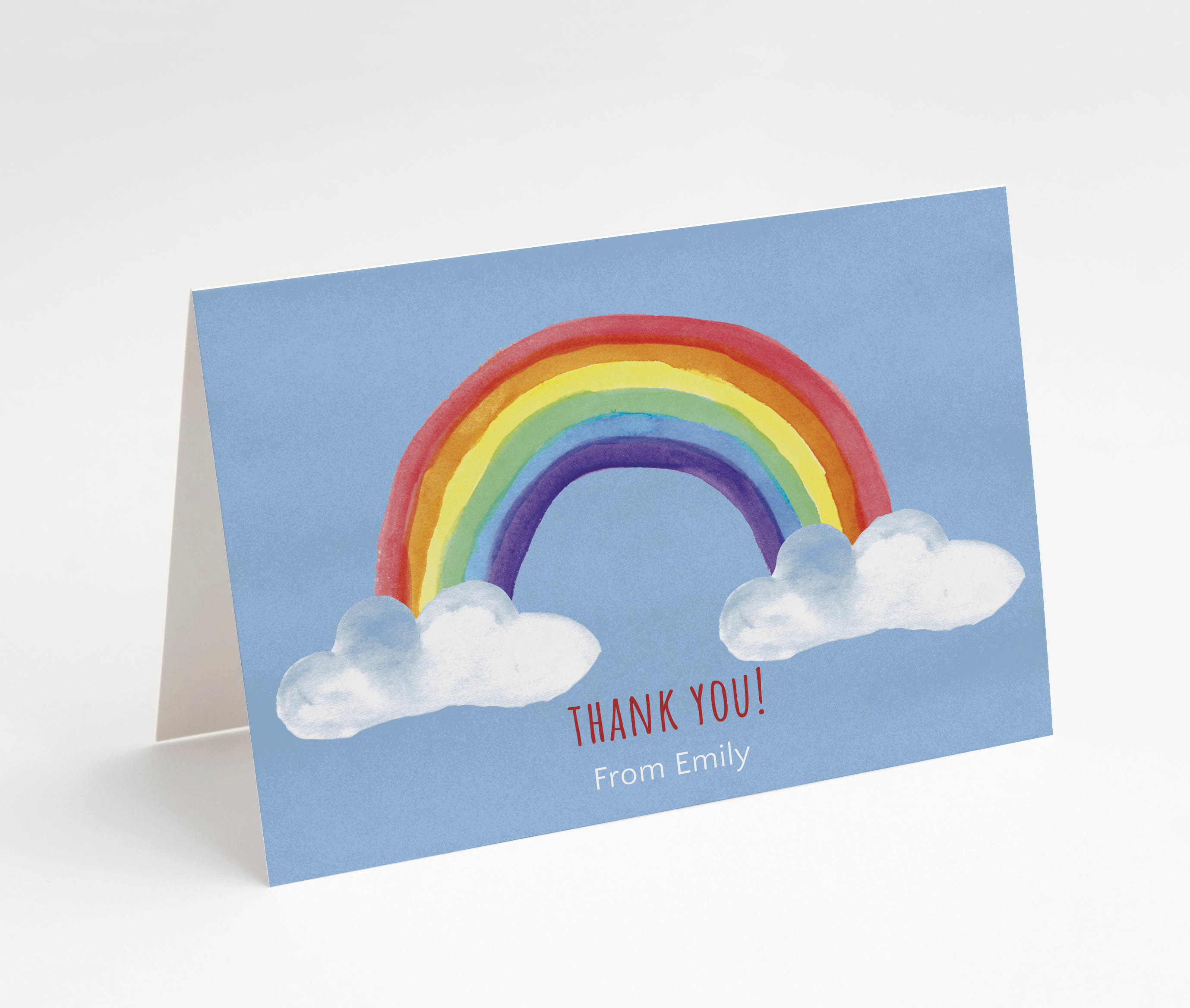 Rainbow Bright Thank You Card