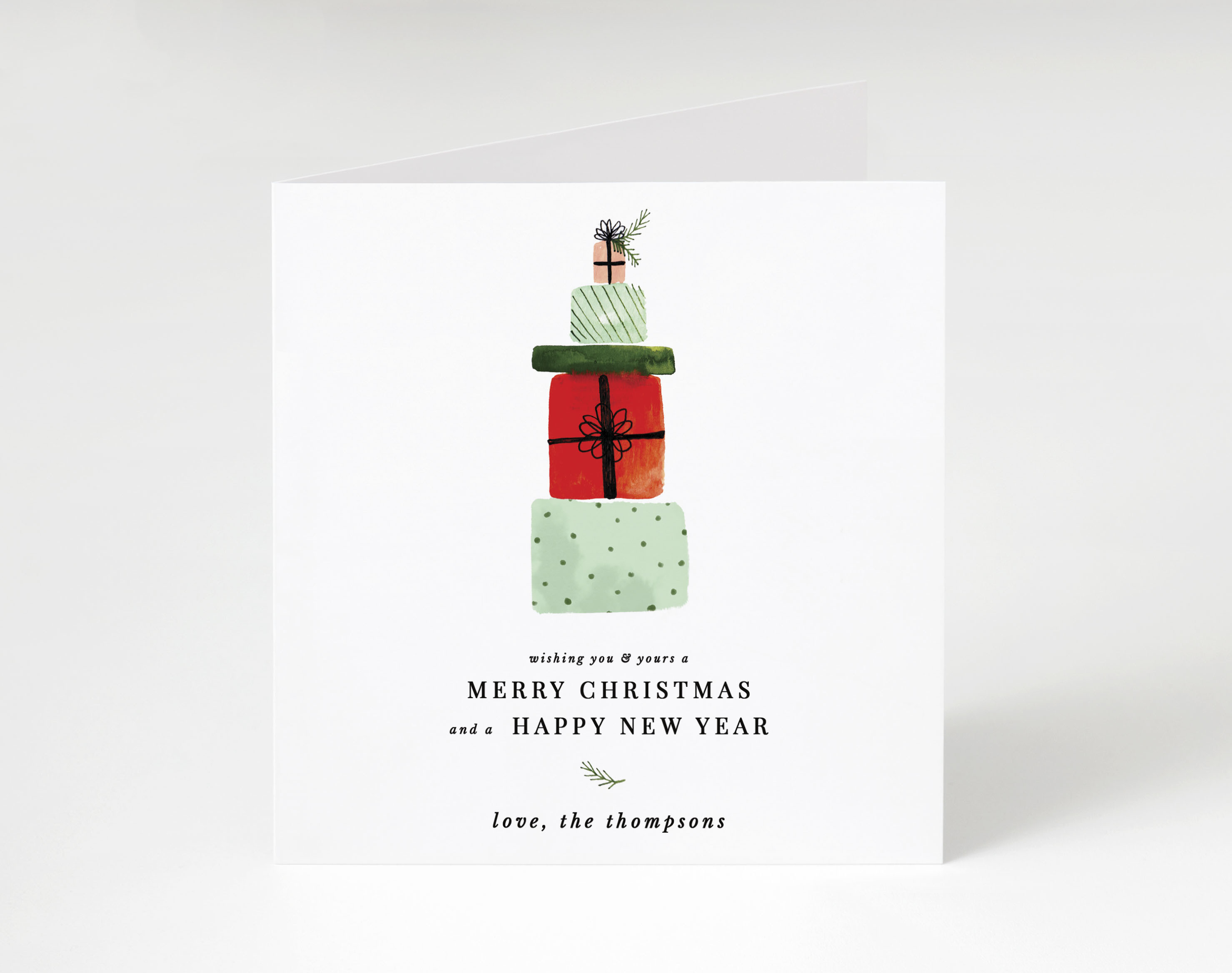 Gift Stack Holiday Card
