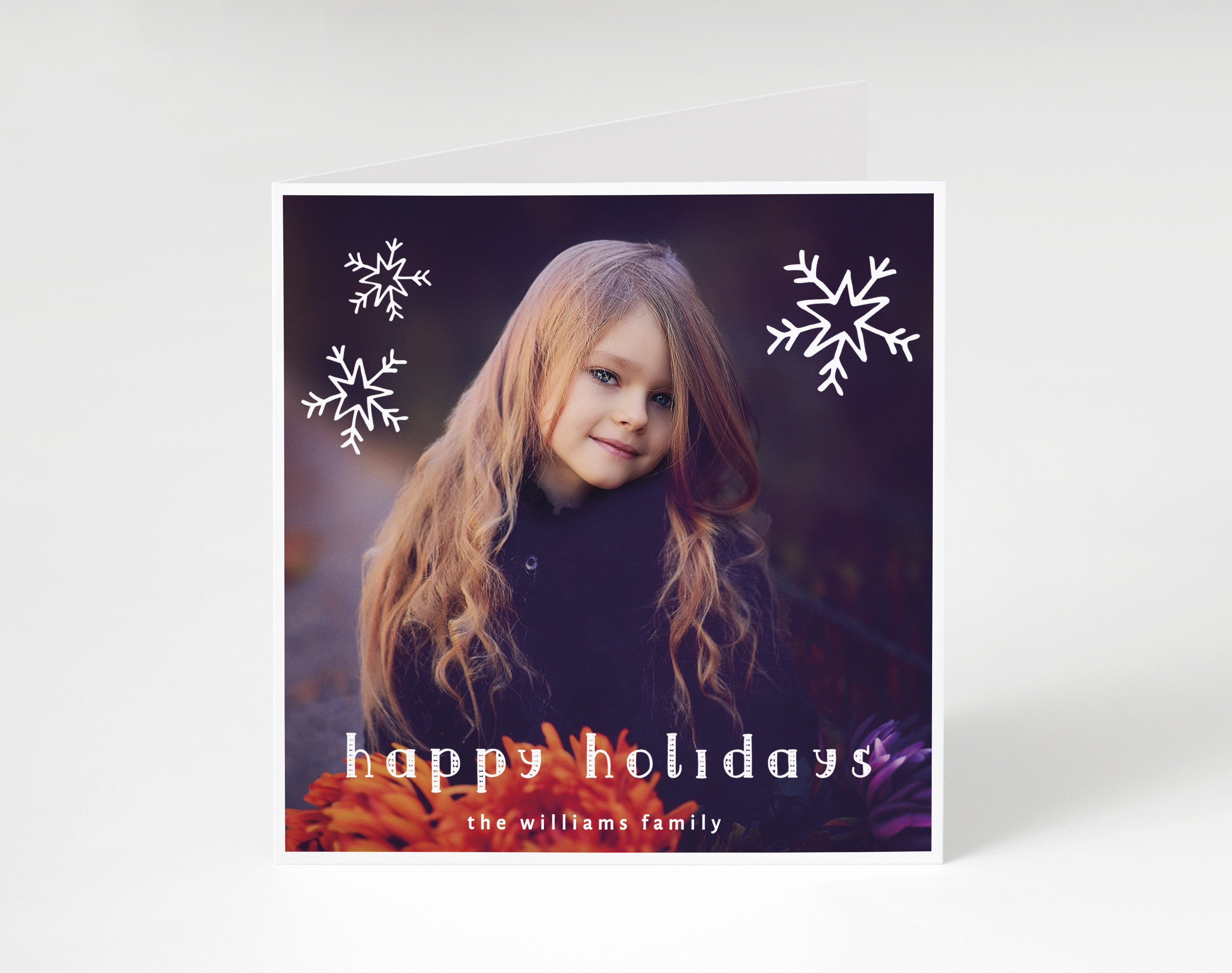 Snowburst Holiday Card