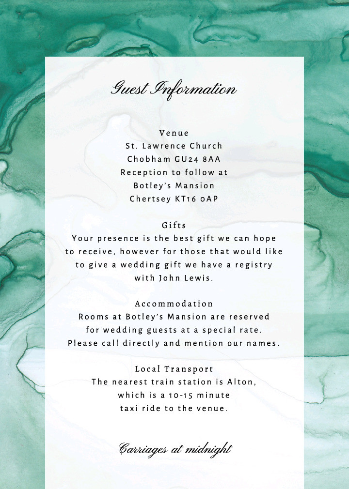 Emerald Marble Guest Information