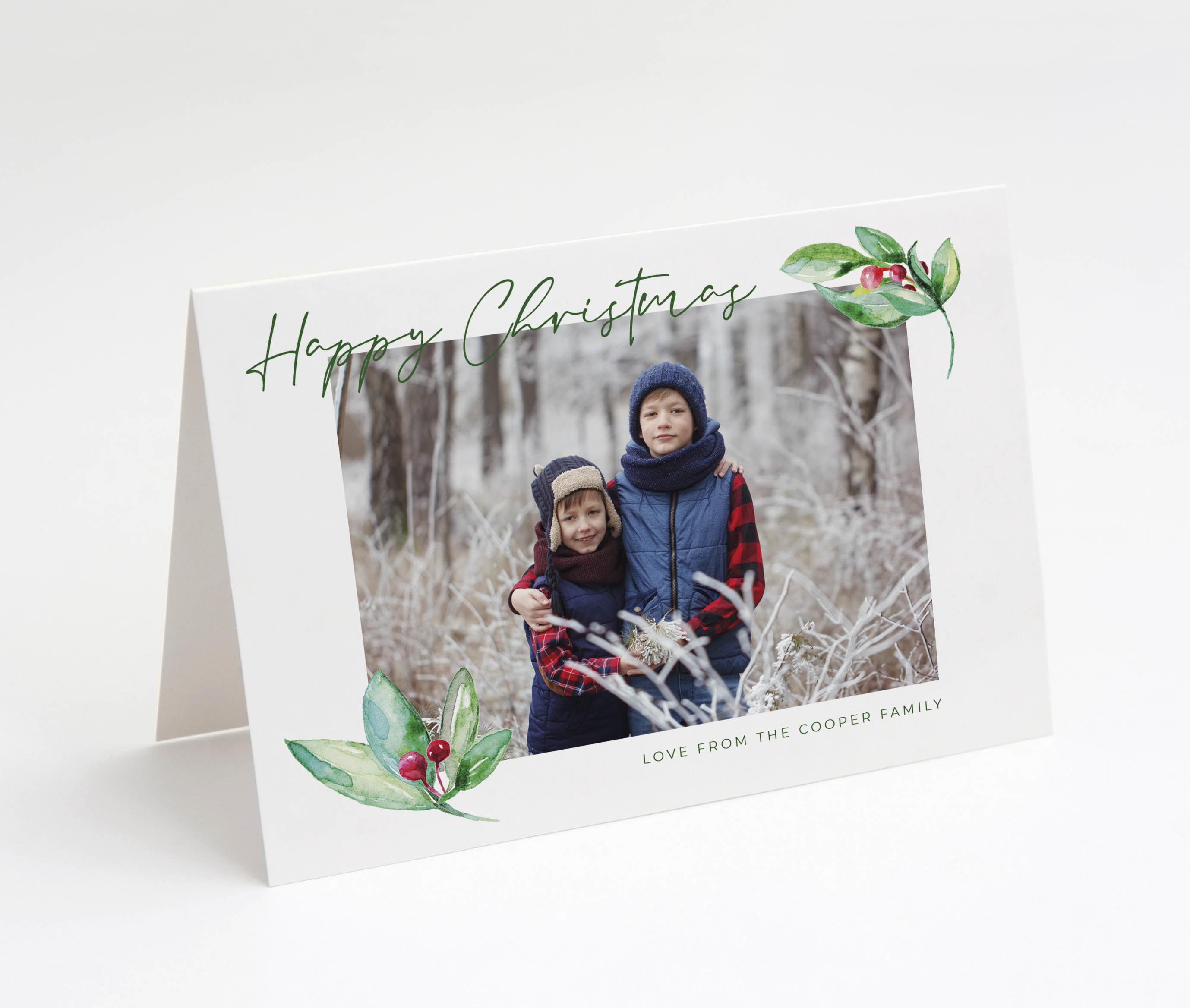 Touch of Holly Christmas Card