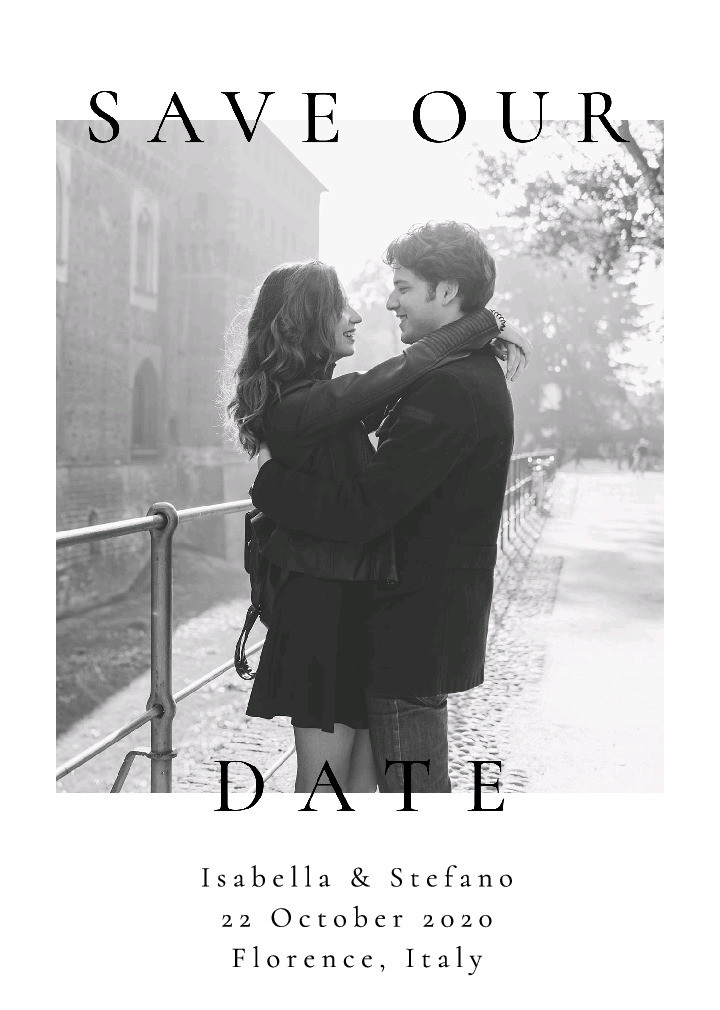 Save Our Date Photo Card