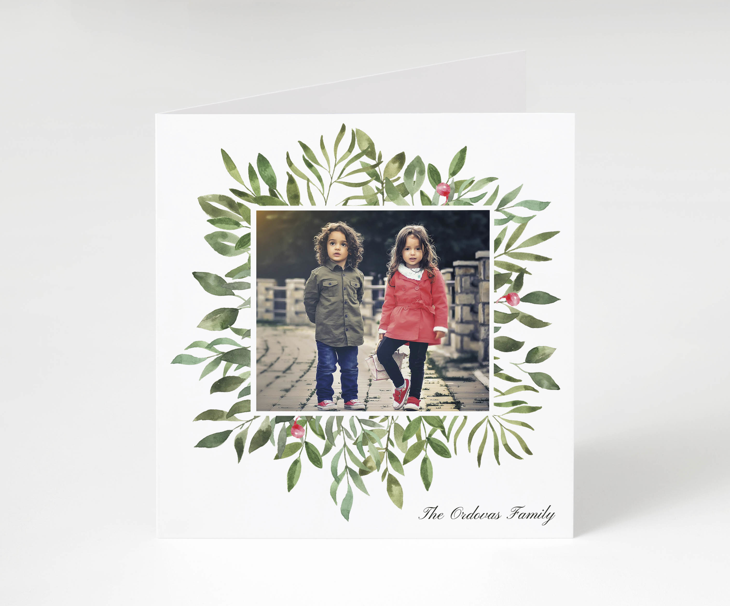 Seasonal Foliage Holiday Card