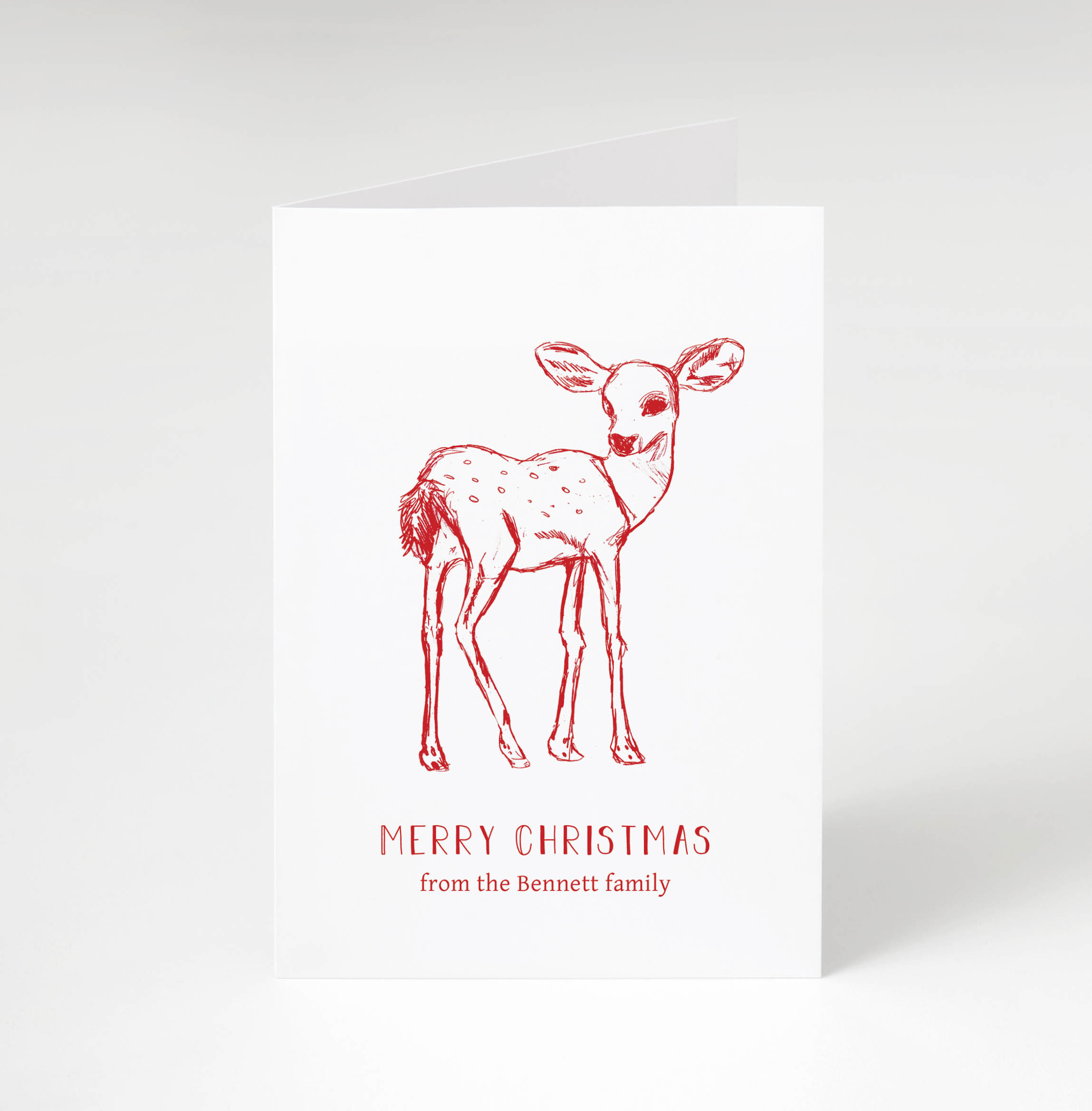 Forest Deer Holiday Card