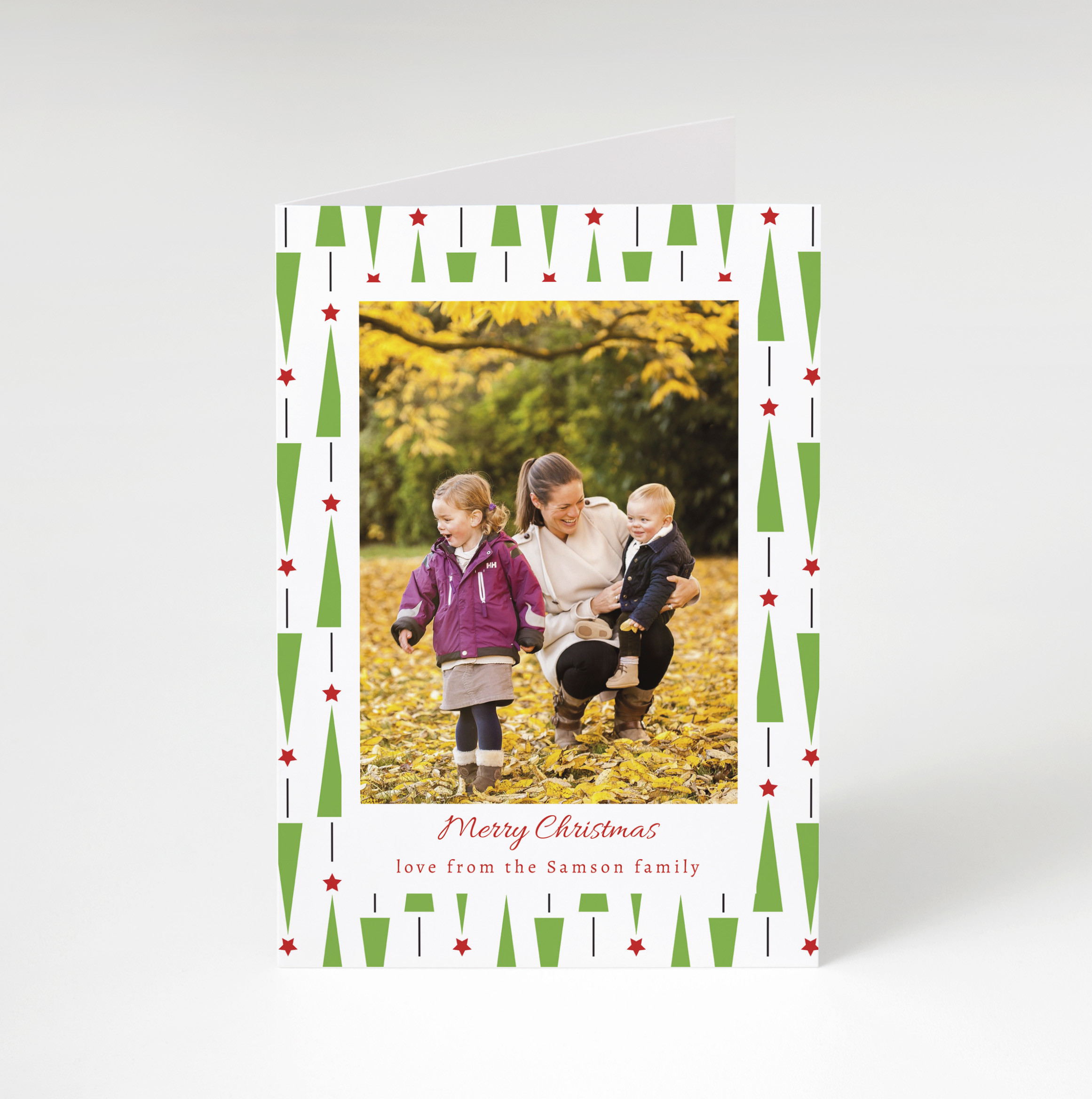 Pine Pattern Holiday Card