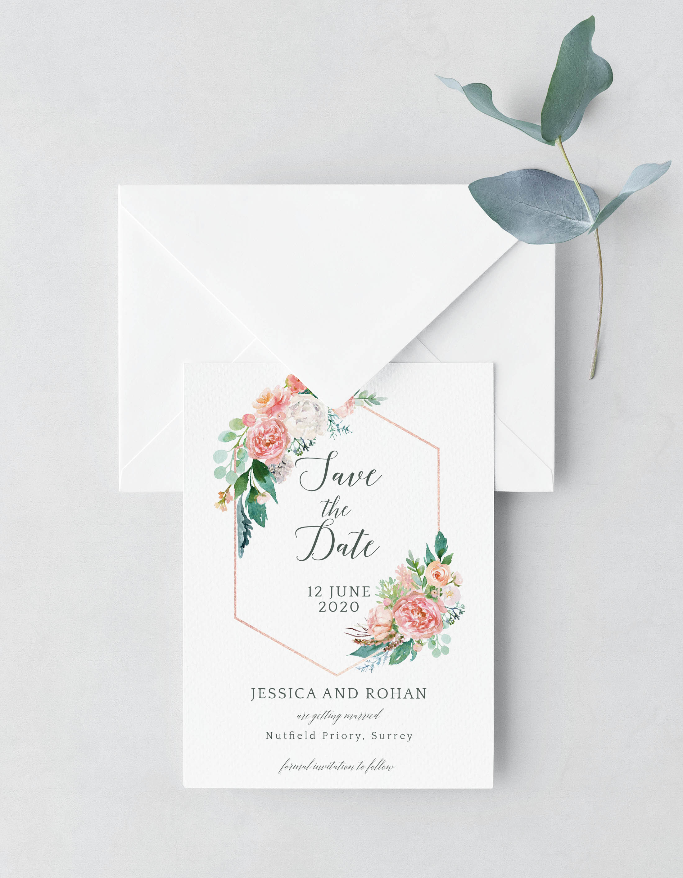 Blush Surround Save the Date