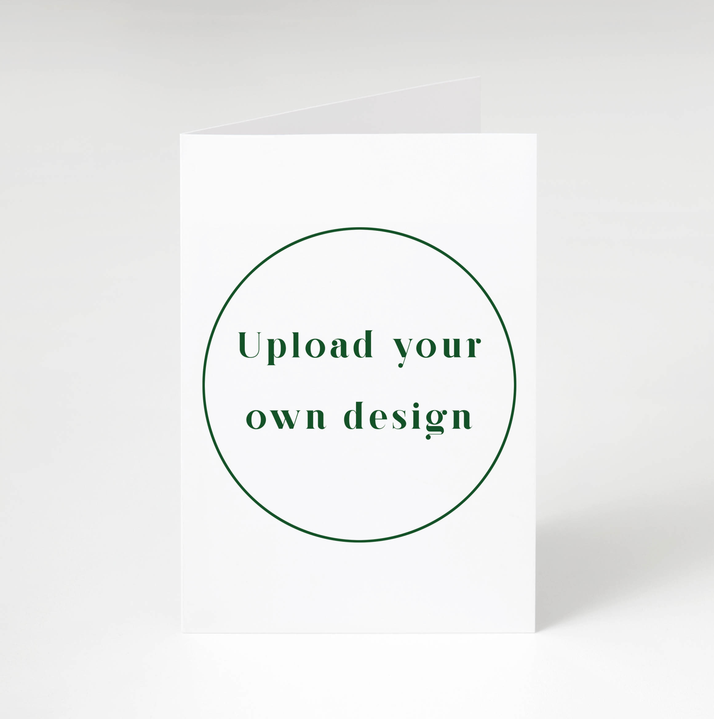 Design Your Own Folded Card - Portrait