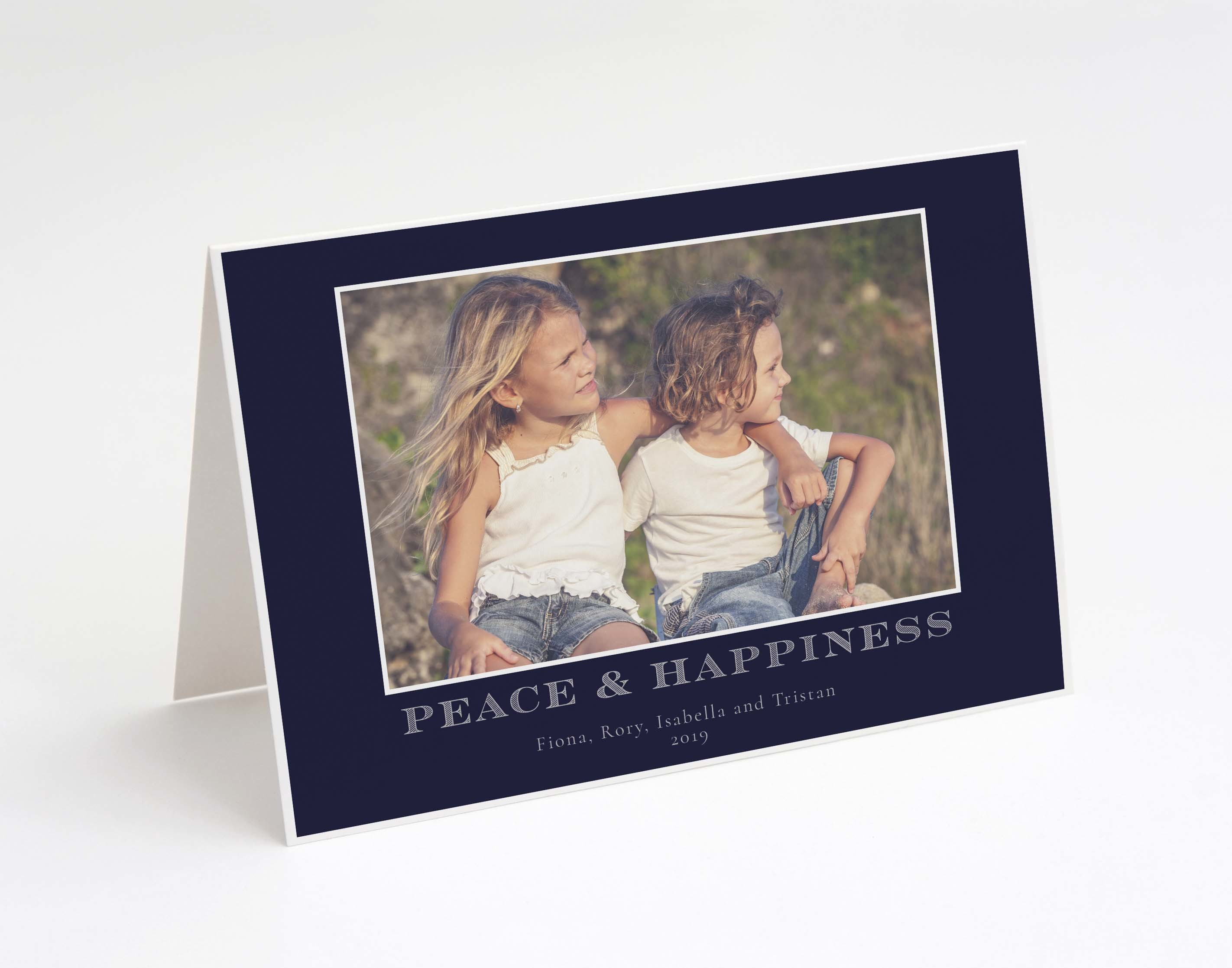Peace & Happiness Holiday Card