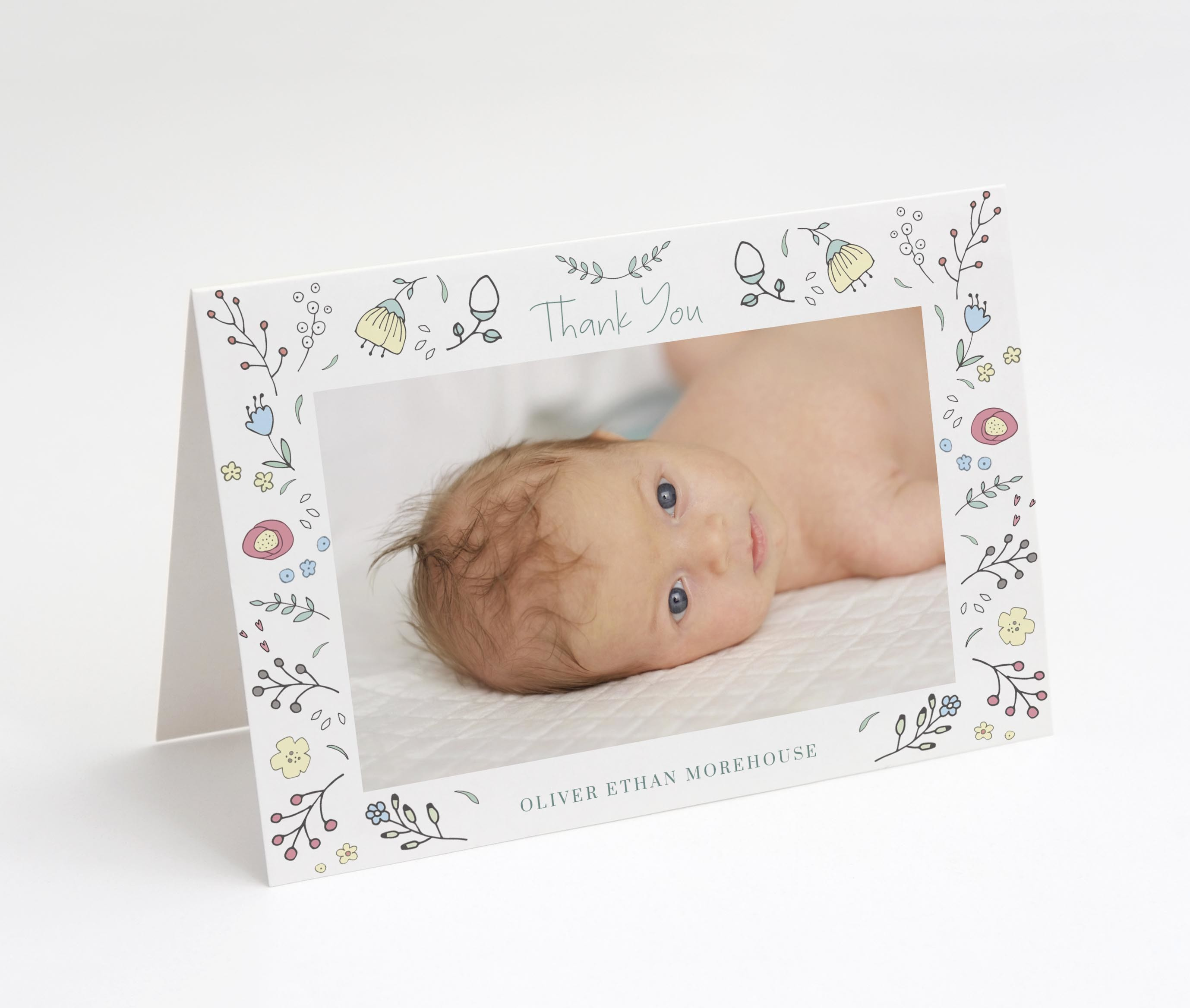 Spring Whimsy Thank You Card