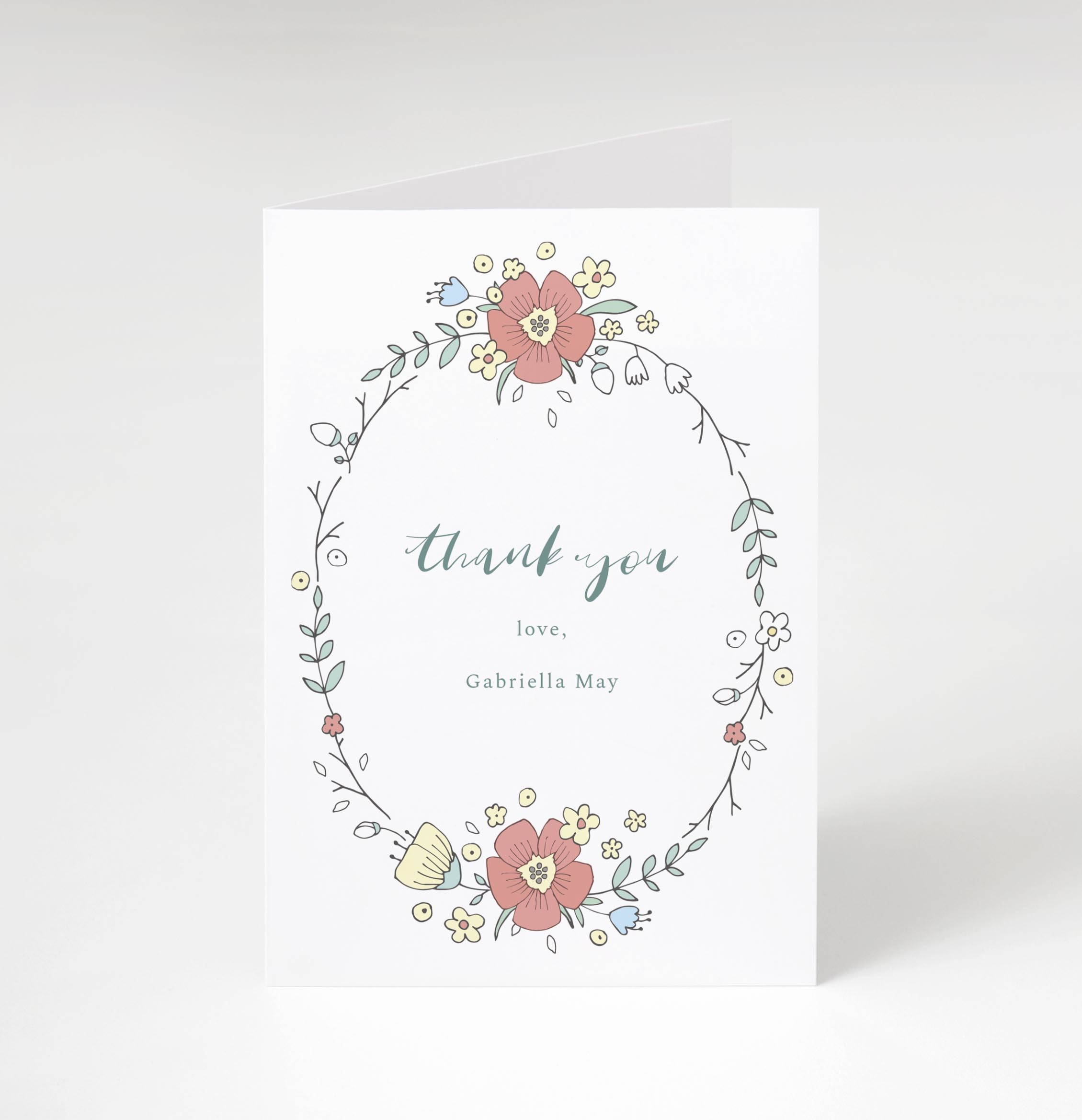 Whimsy Folded Thank You Card