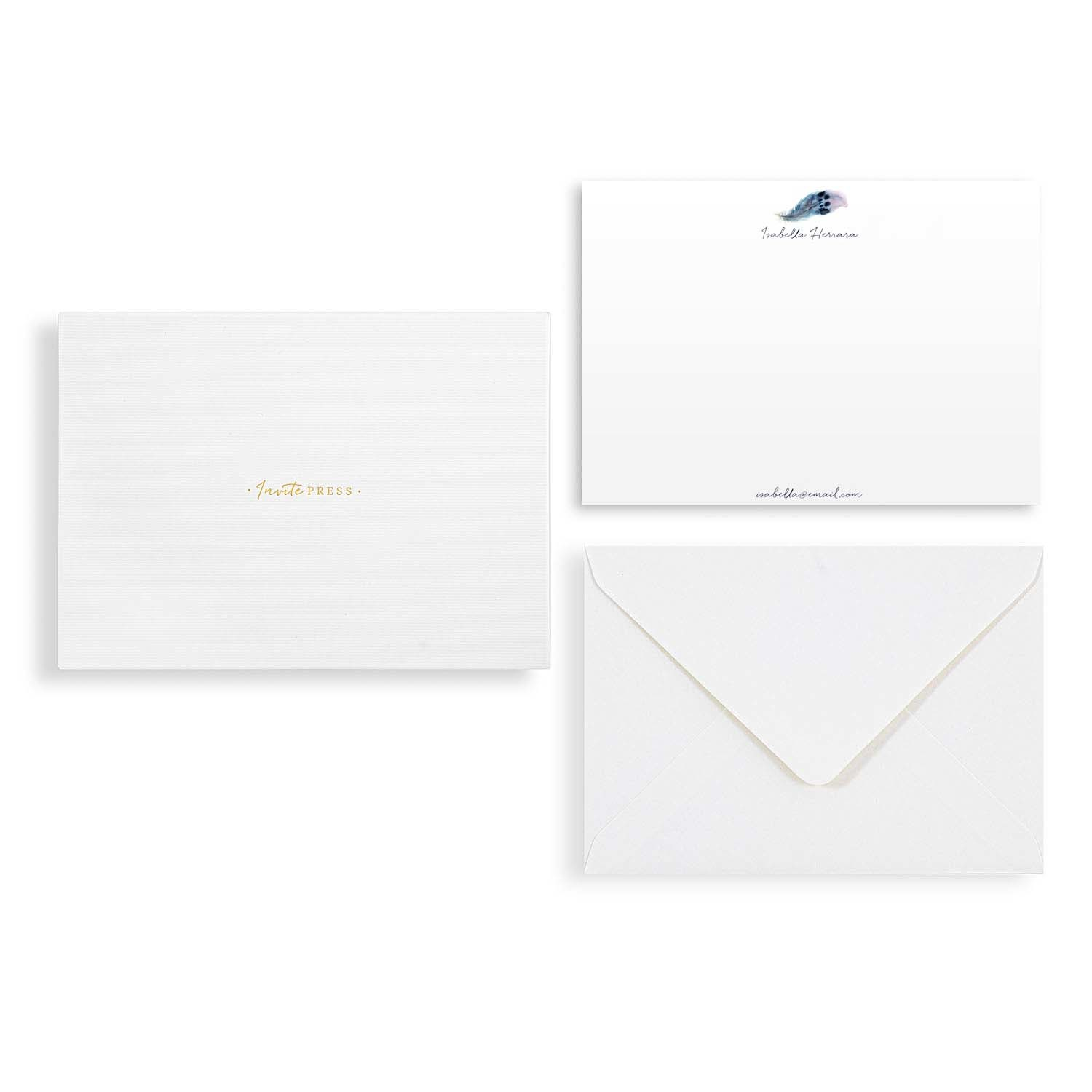 Mockingbird Feather Notecard Set