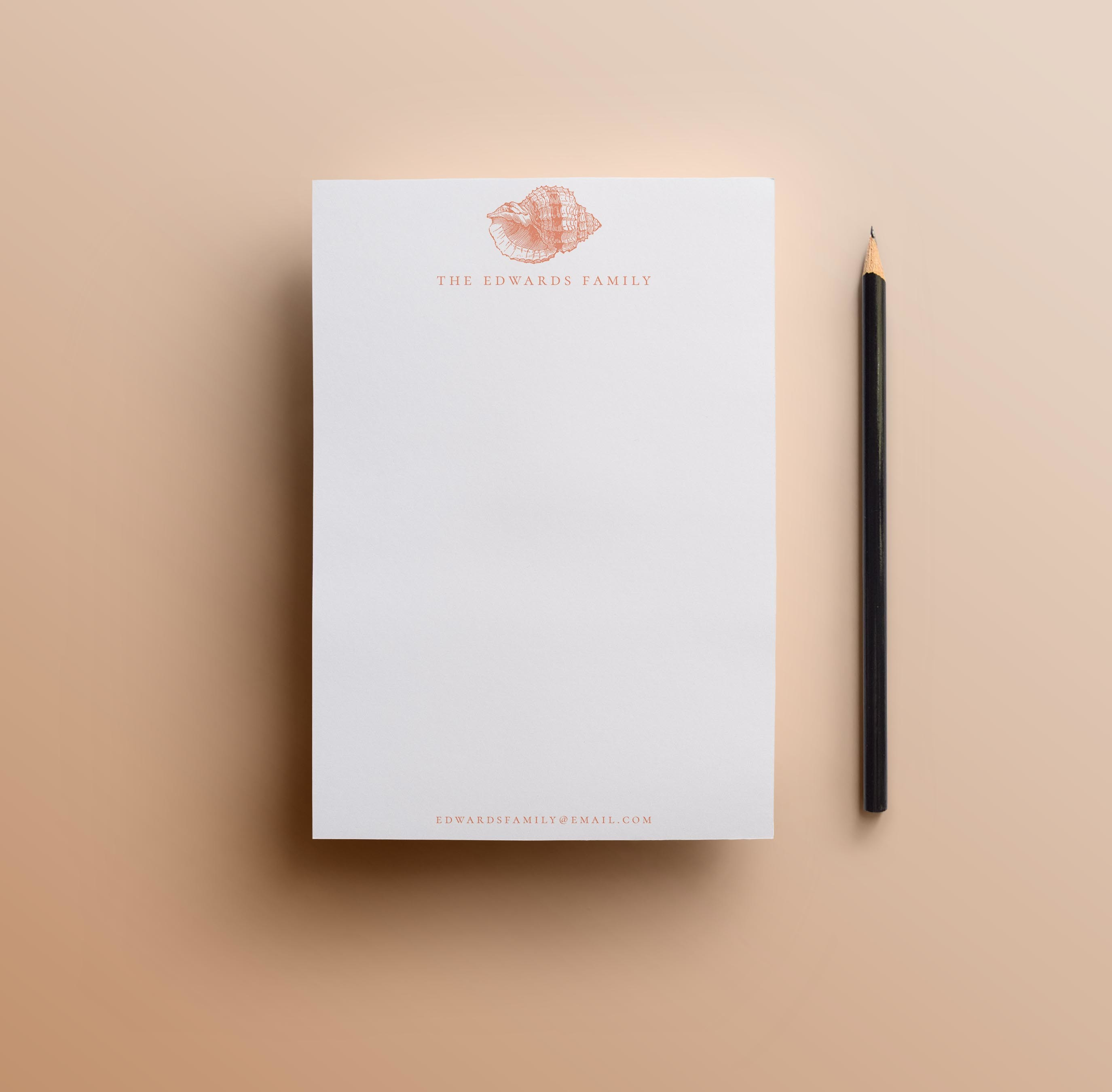 Conch Shell Notepad