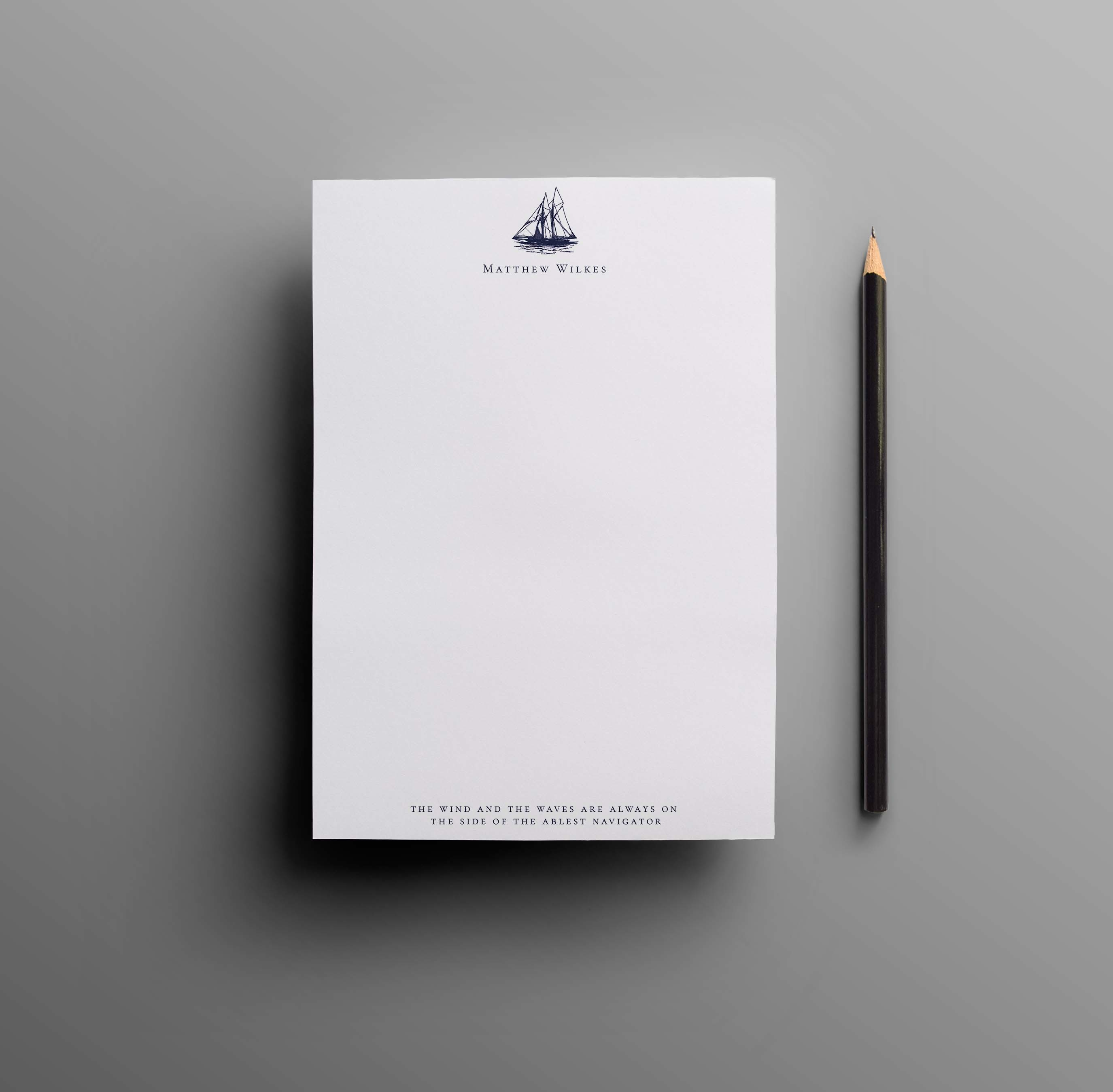 Sail Away Notepad