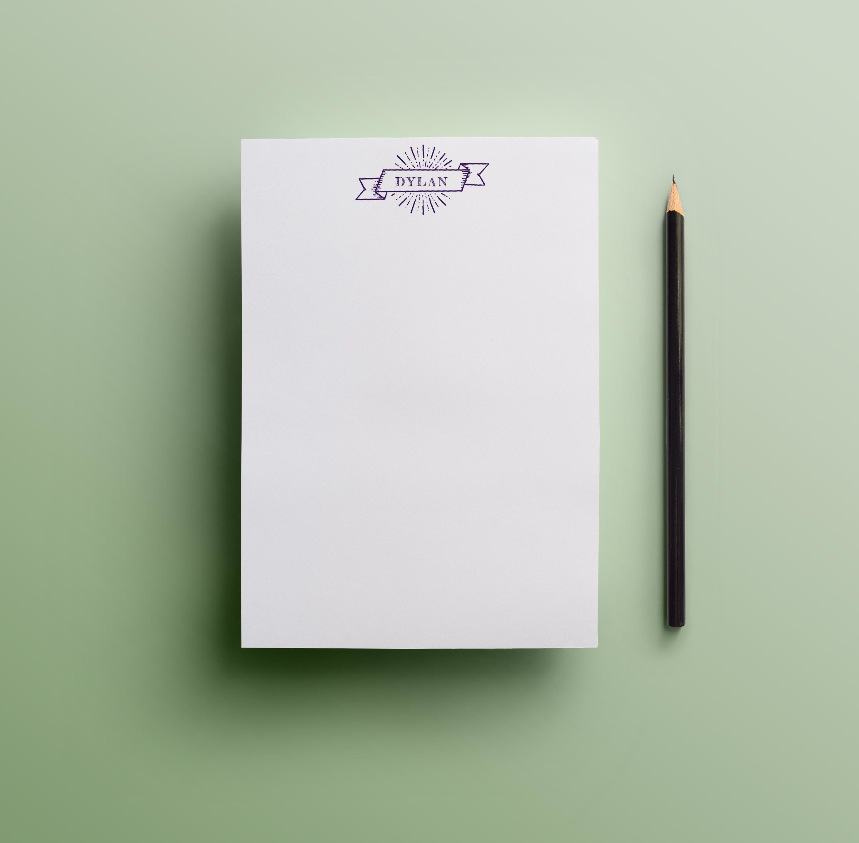 Purple Banner Notepad