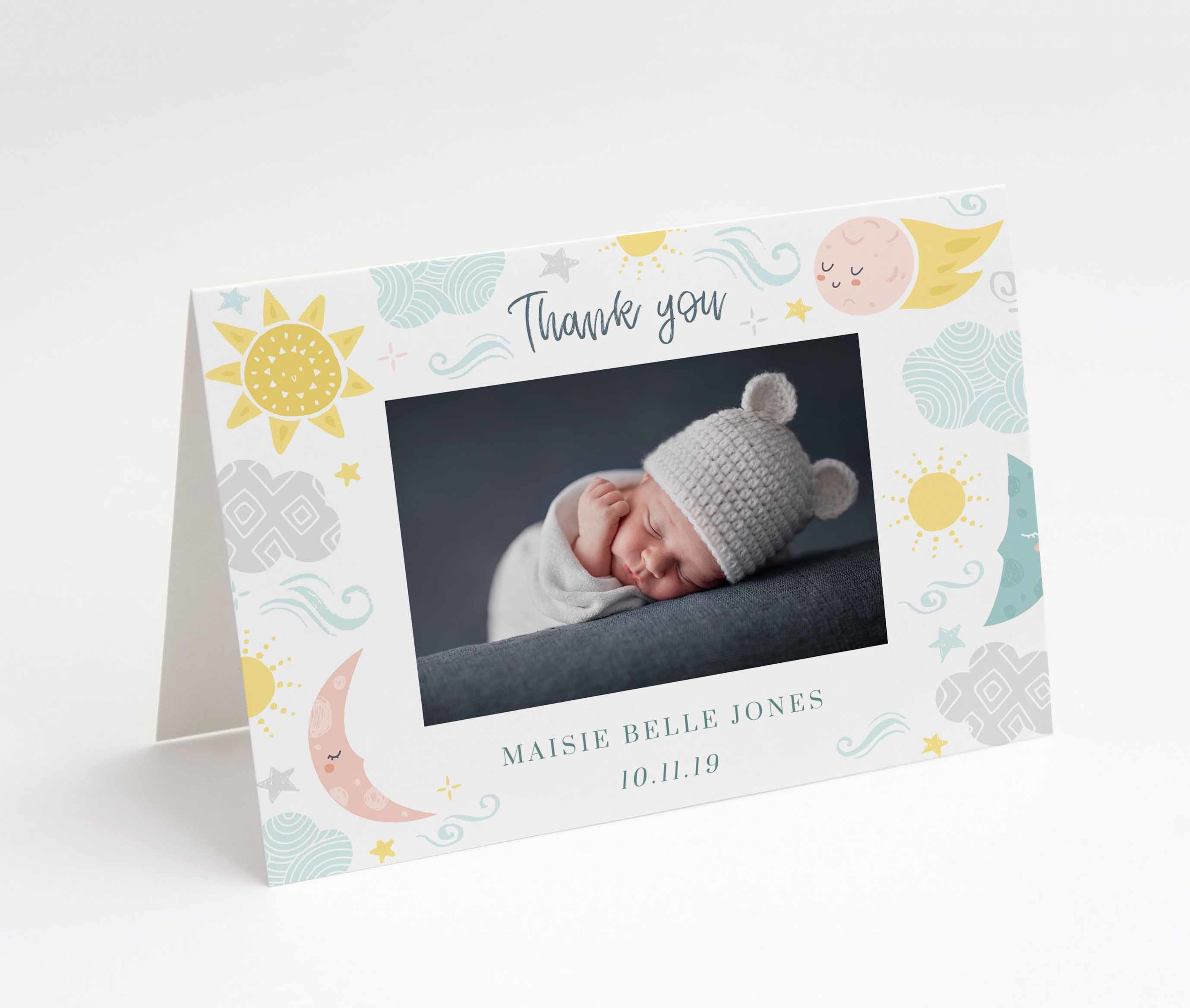 Lullaby Baby Thank You Card