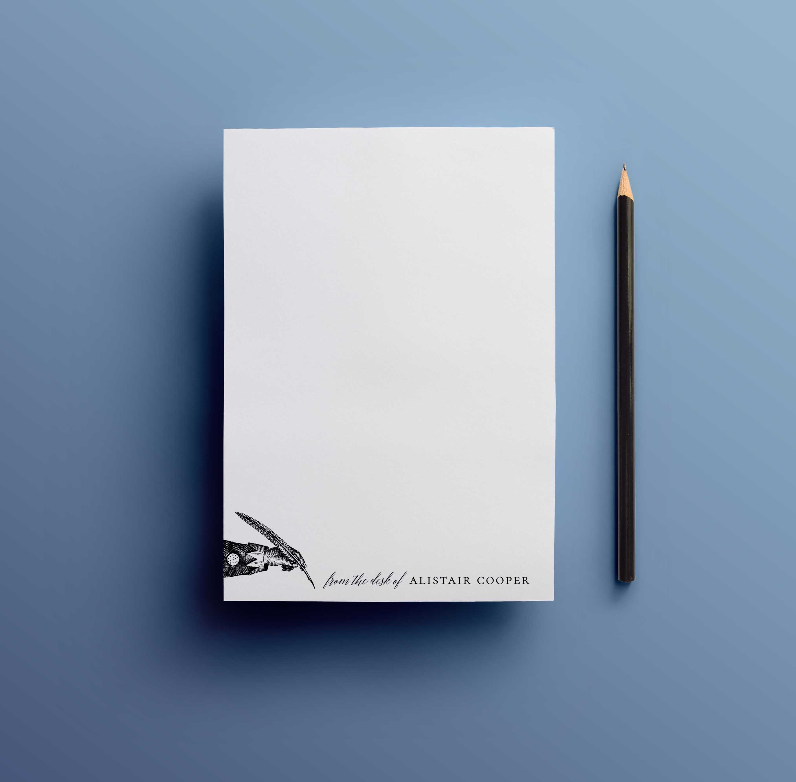 Quill and Ink Notepad