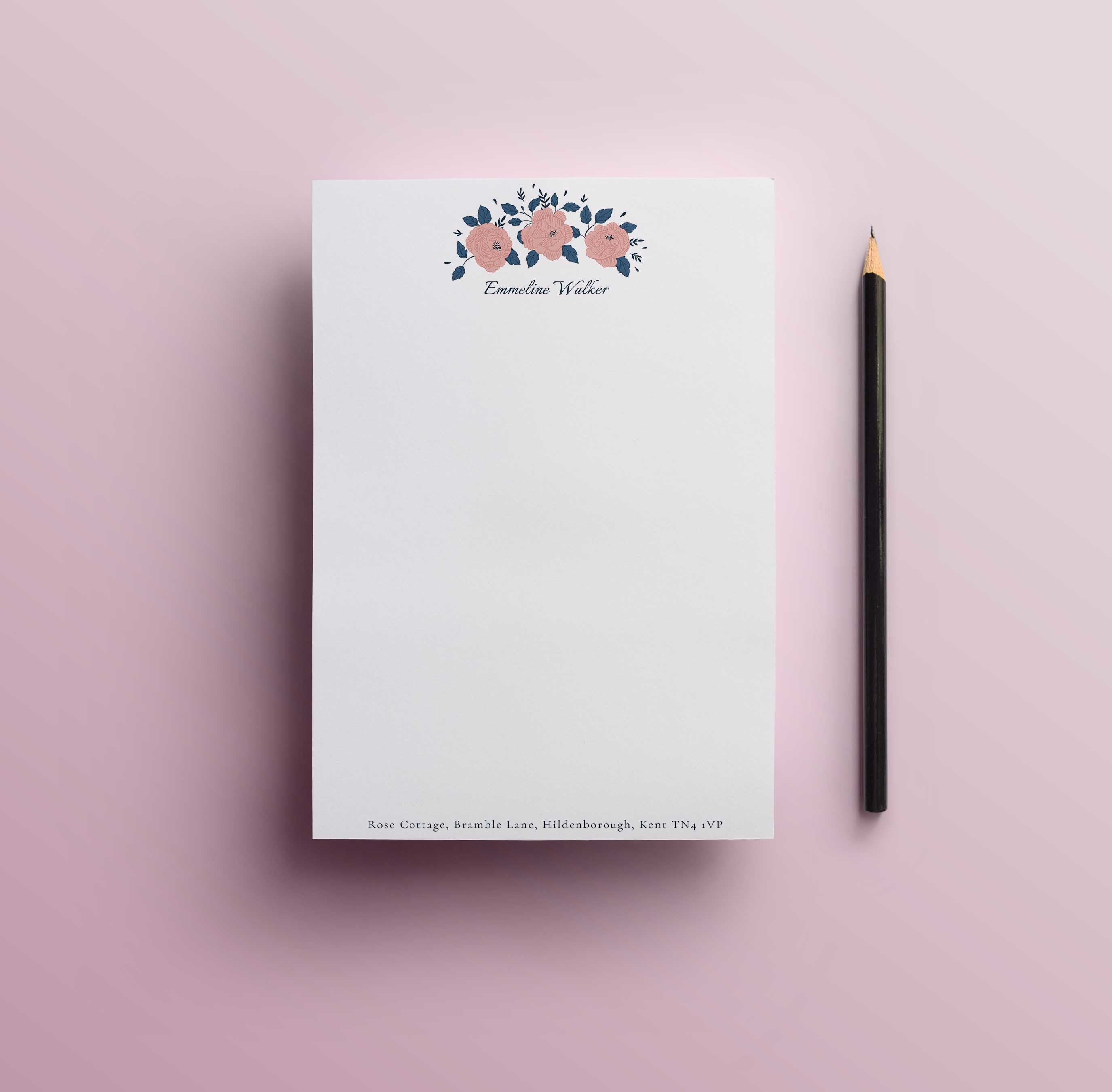 Rose Cottage Notepad