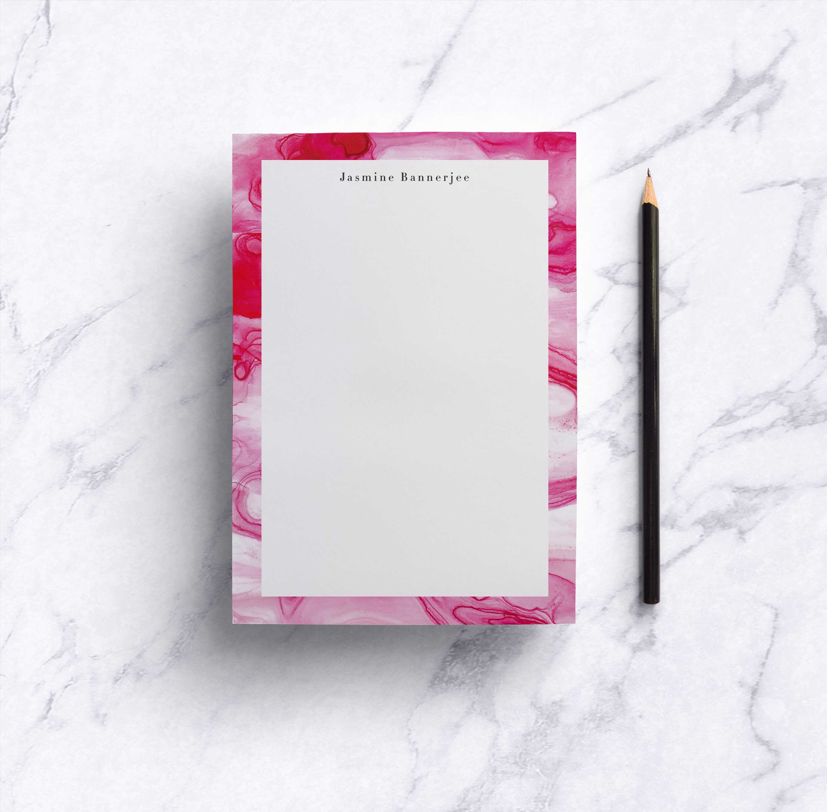 Aquarelle Fuschia Notepad