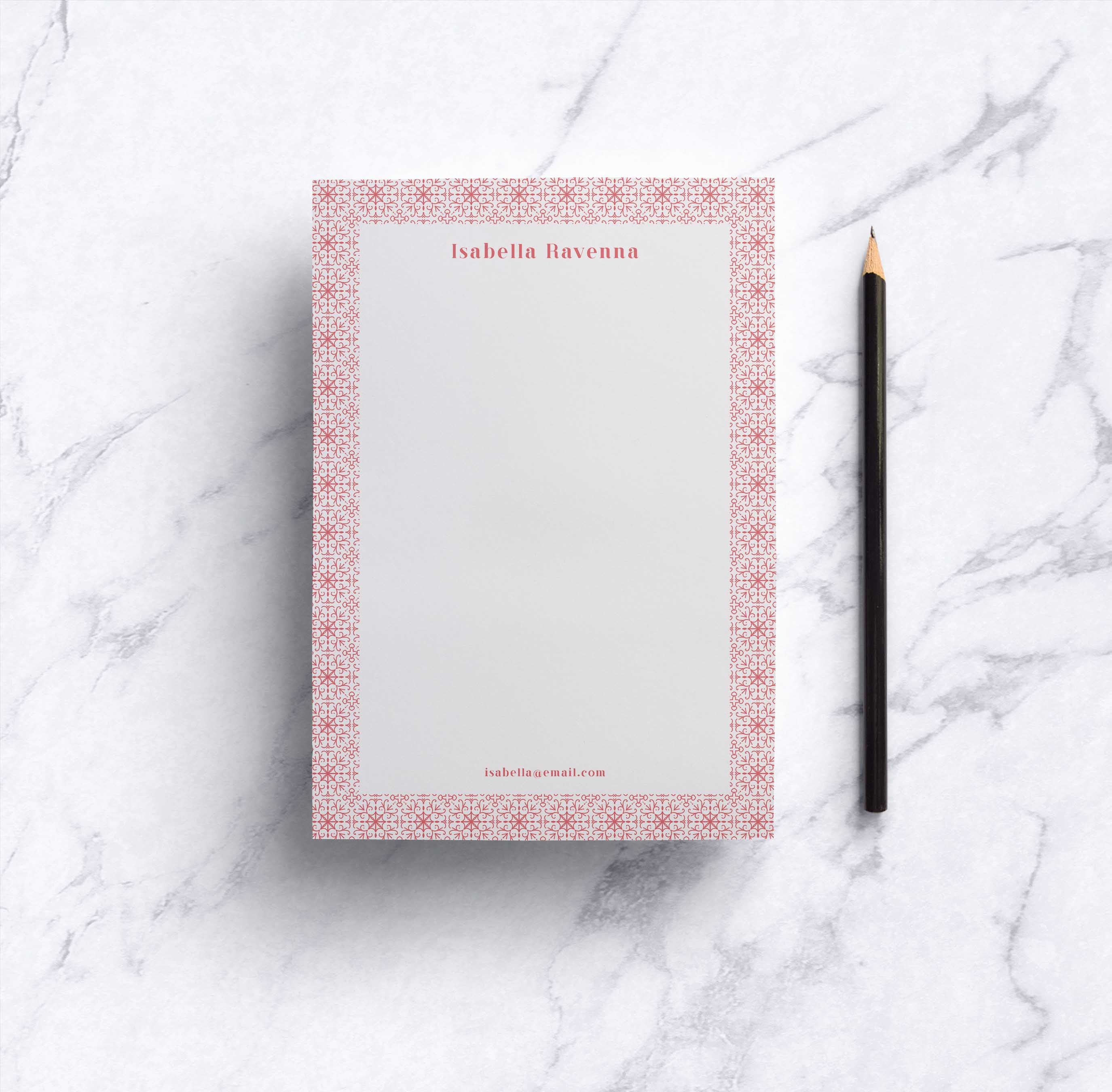 Rose Tile Notepad