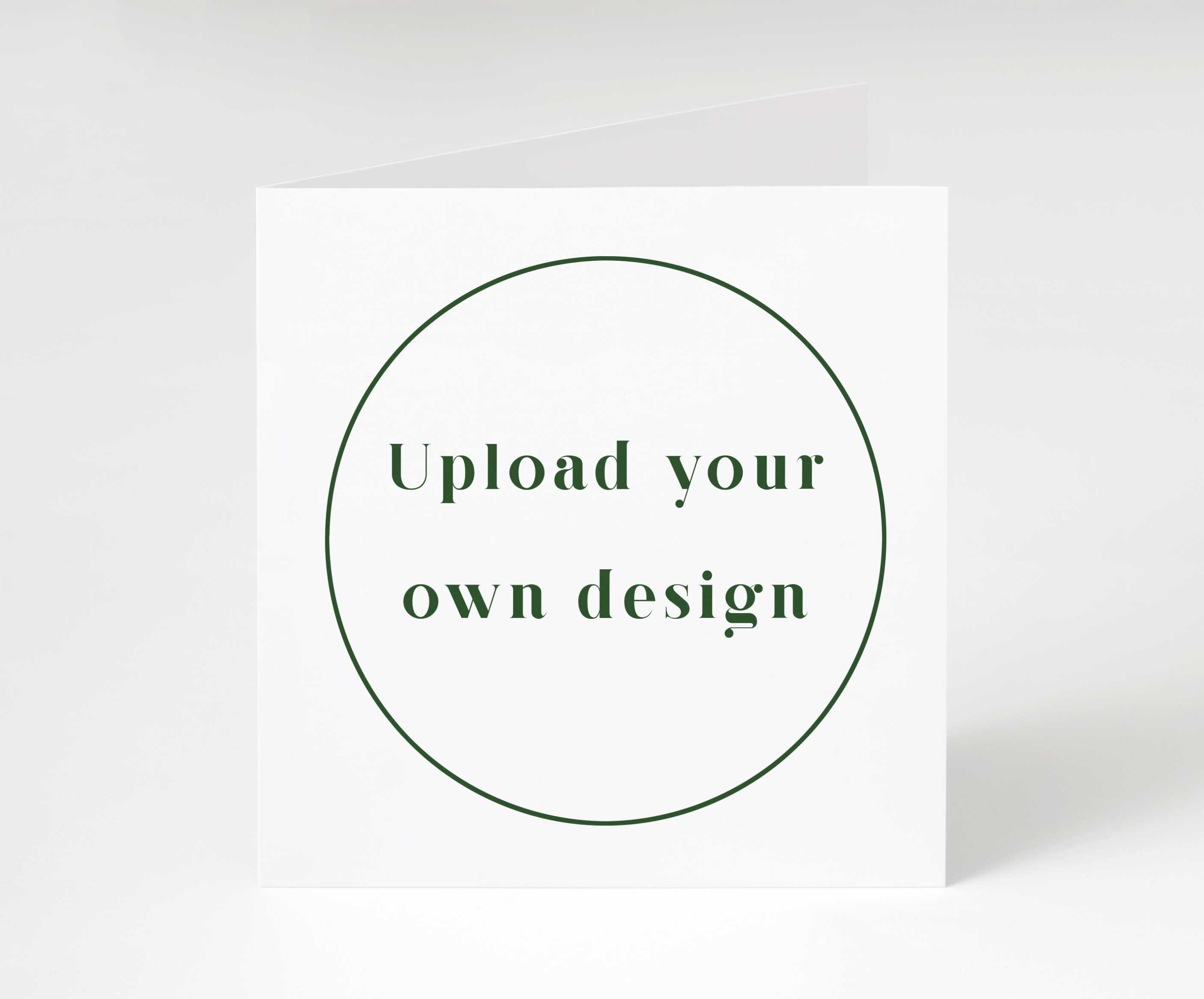 Design Your Own - Square Folded Card