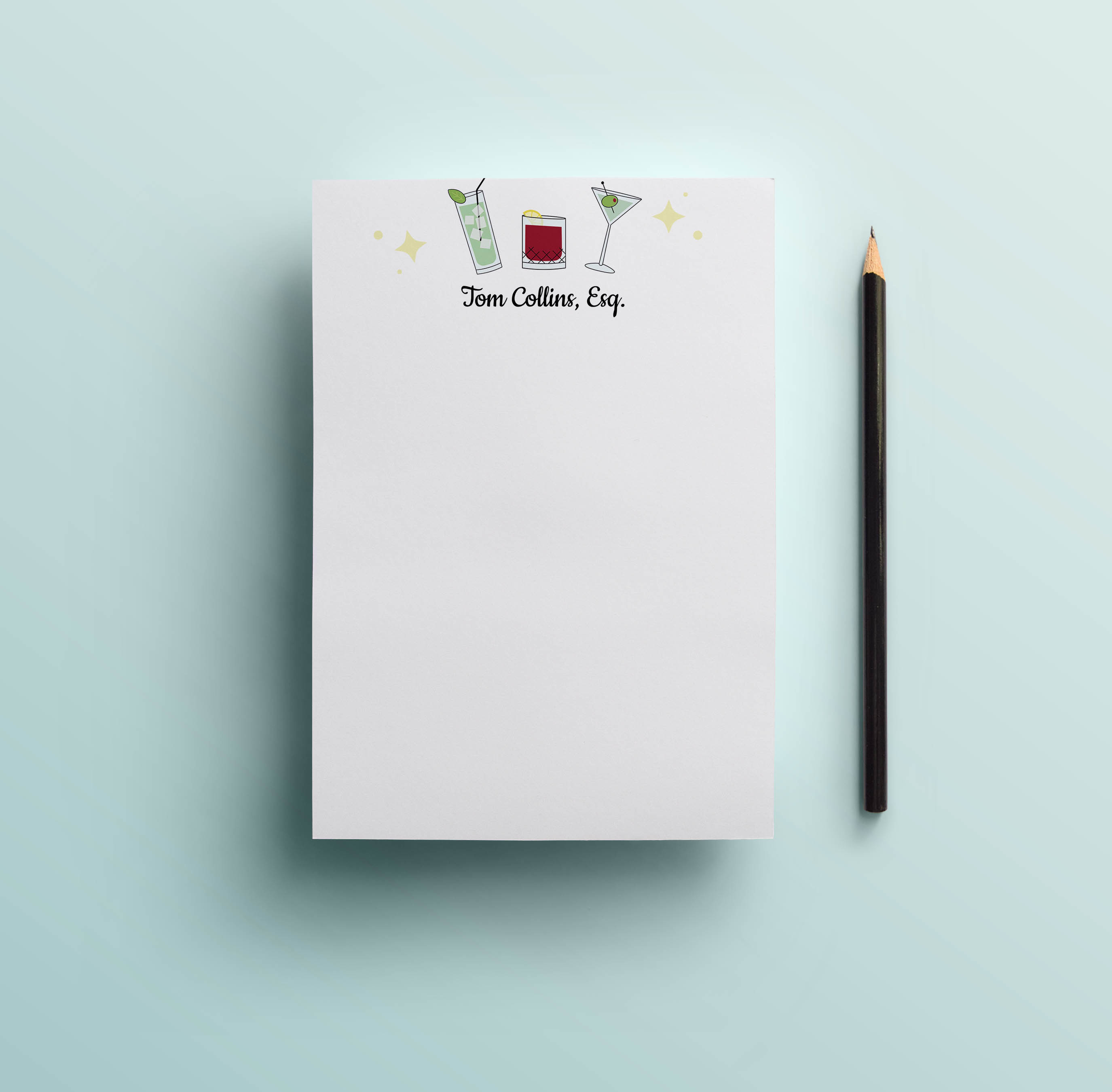 Retro Cocktail Notepad
