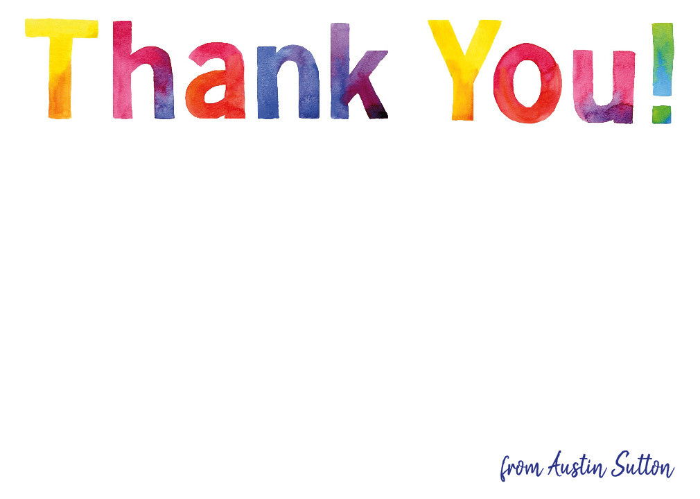 Big & Bright Thank You Card