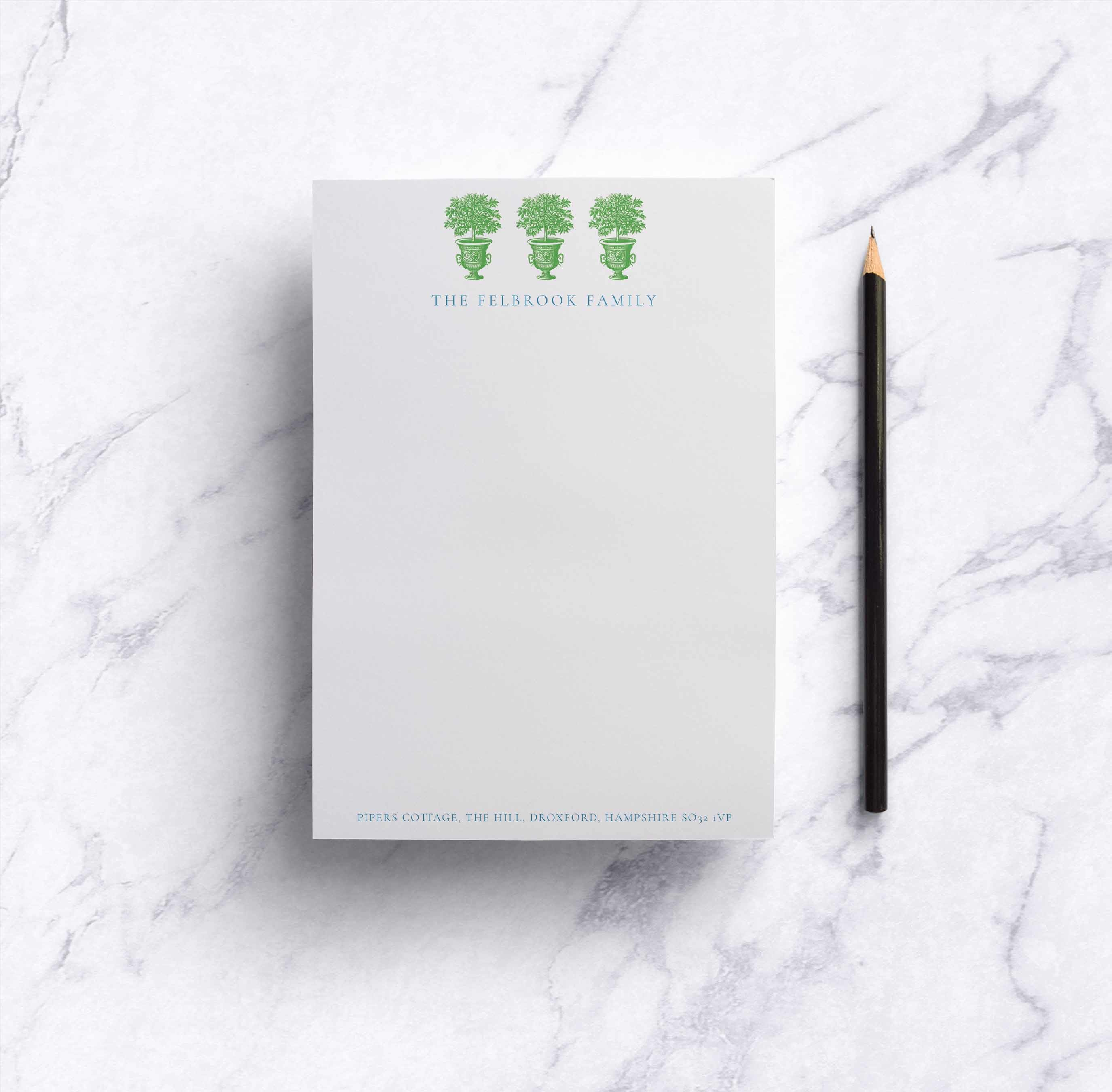 Lime Trees Notepad
