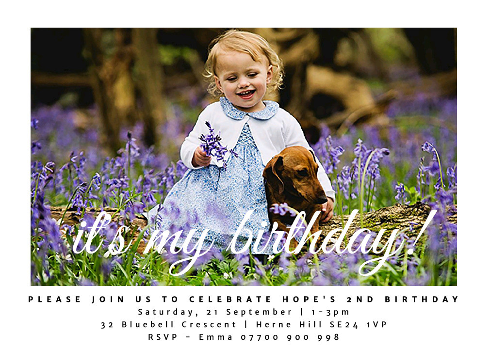 It's My Birthday Party Invitation