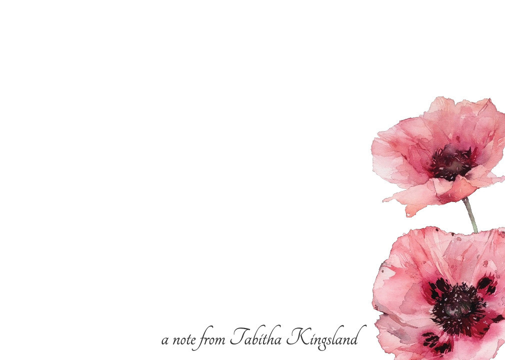 Oriental Poppy Notecard