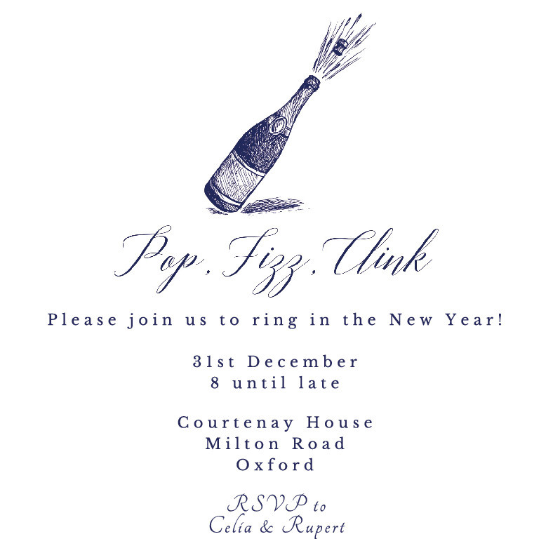 Pop, Fizz, Clink Party Invitation