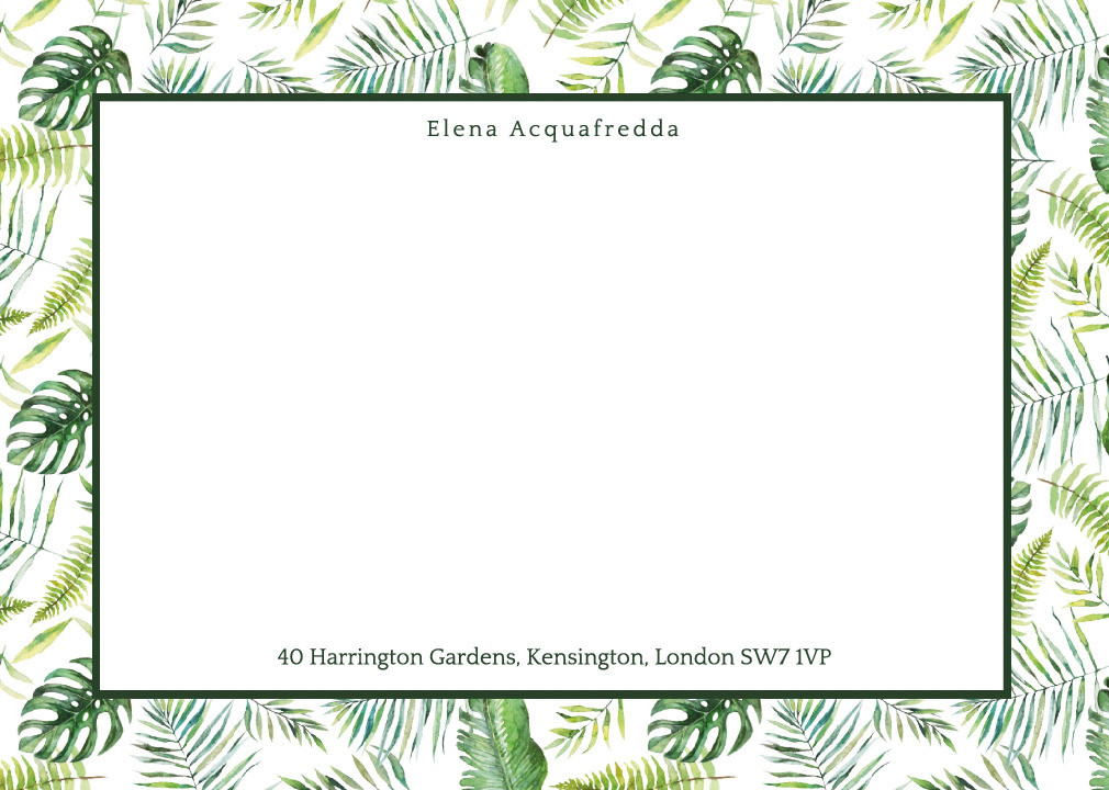 Tropical Greenery Notecard Set