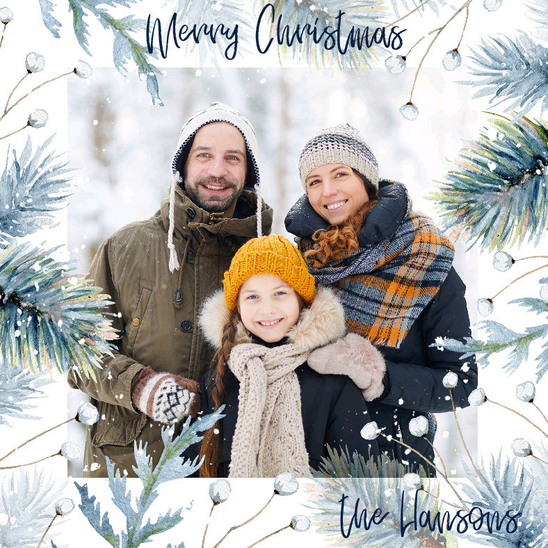 Frosted Frame Holiday Card