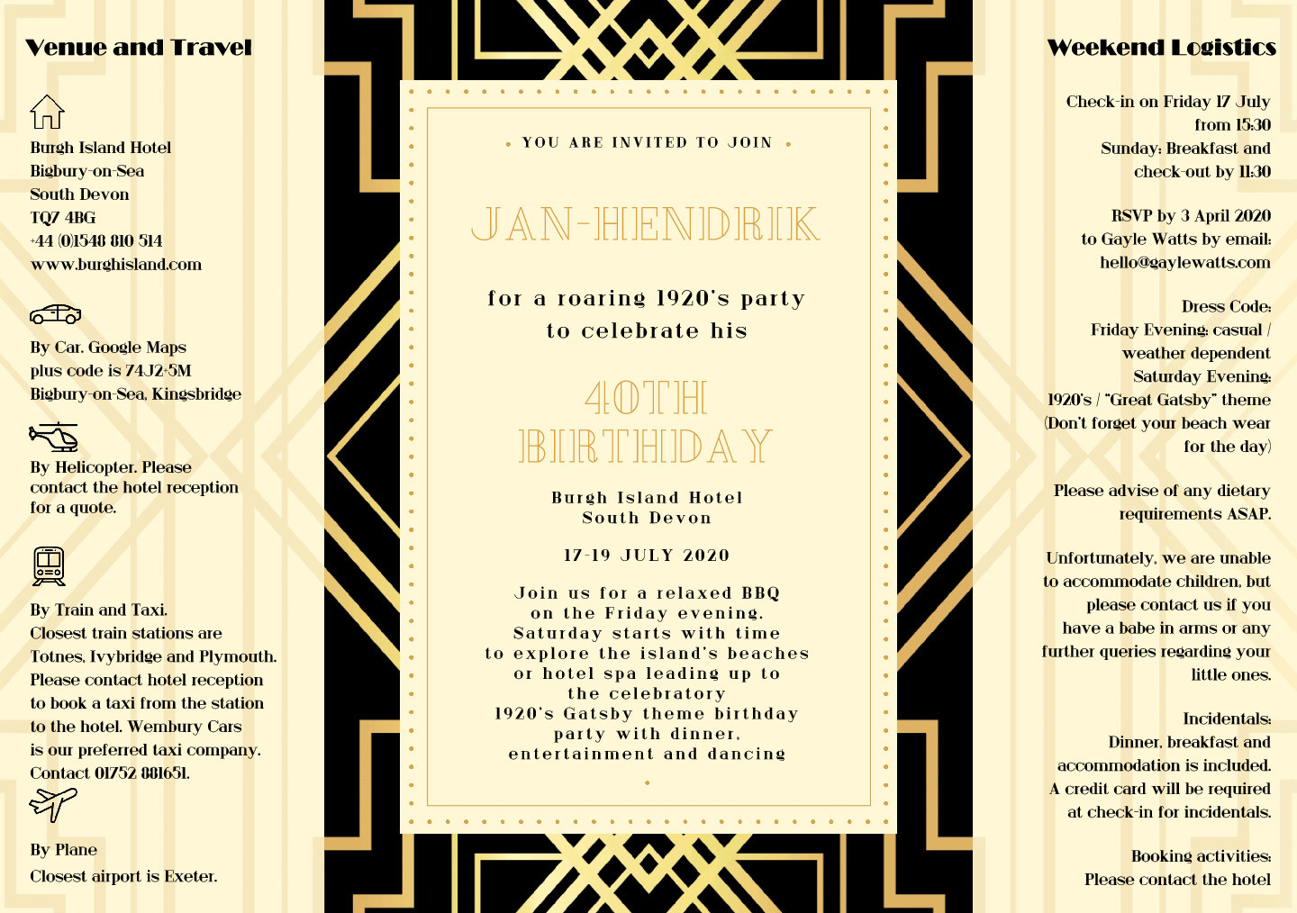 Gatsby special order