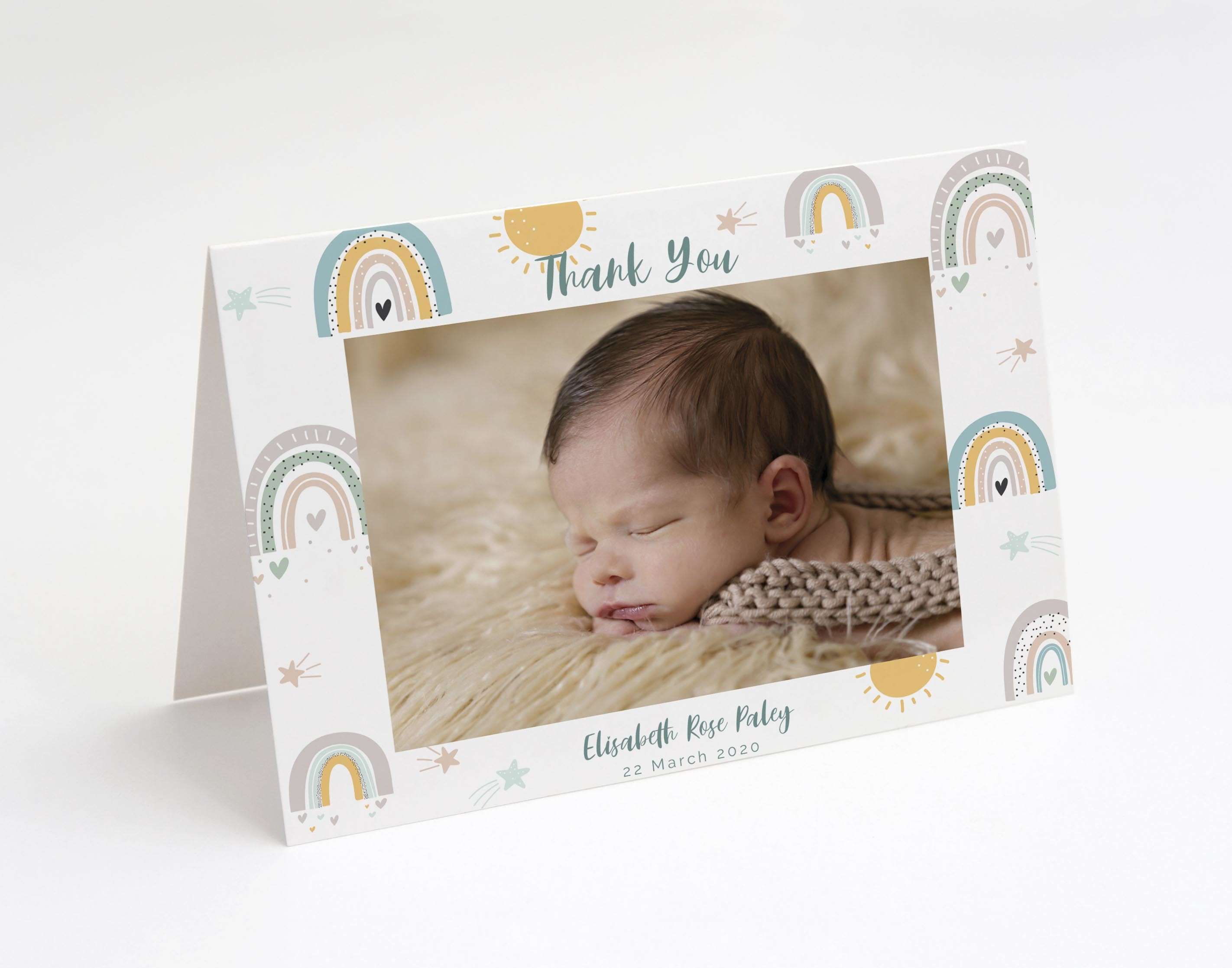 Rainbow Love Baby Thank You Card