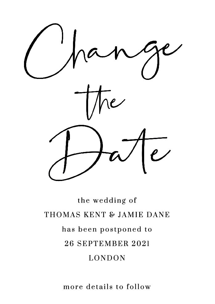Contemporary Change the Date Card