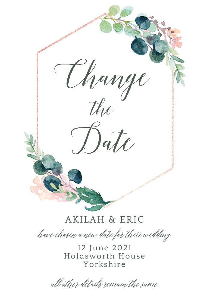 Les Fleurs Change the Date Card