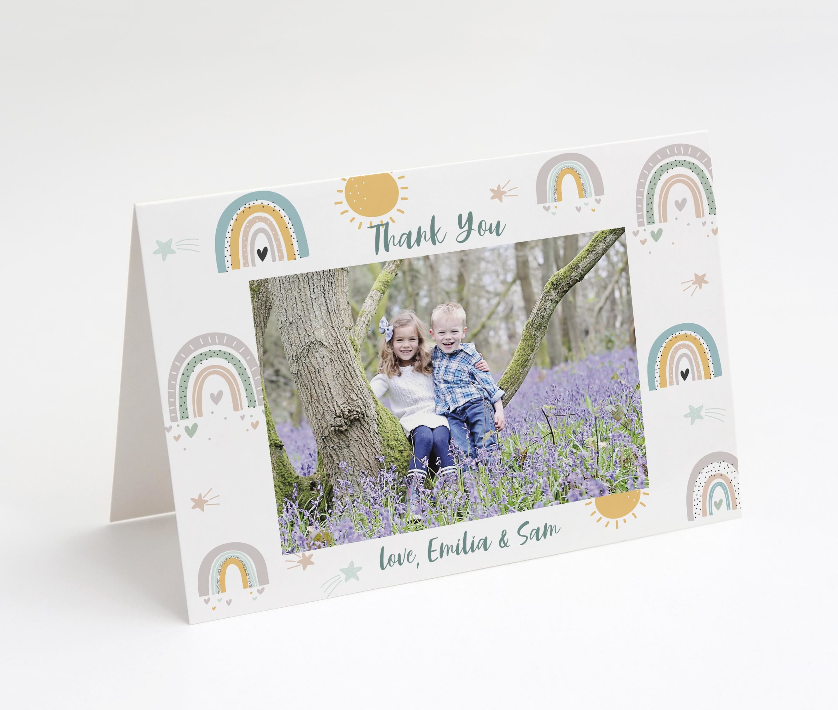 Rainbow Love Kids Thank You Card
