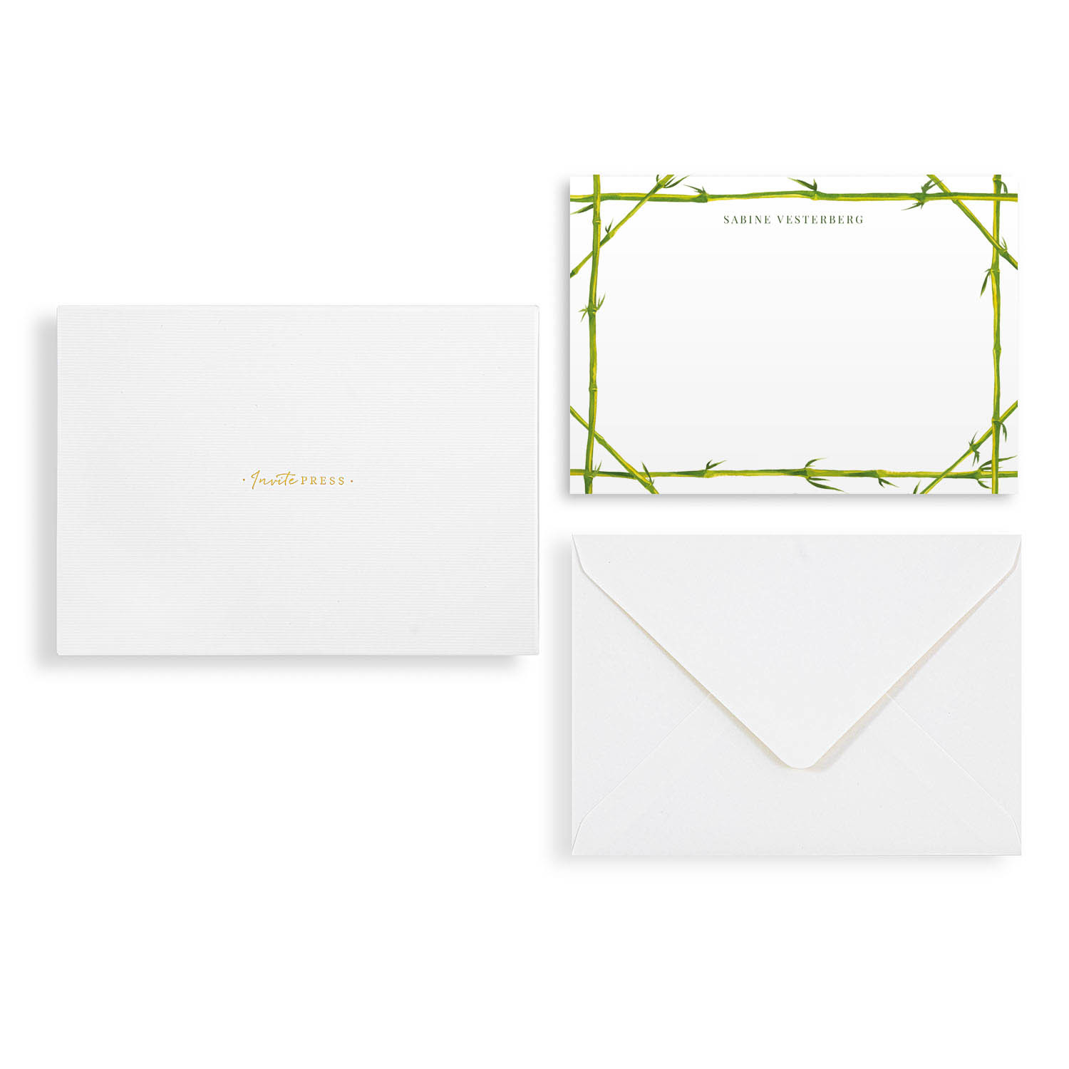 Bamboo Frame Notecard Set