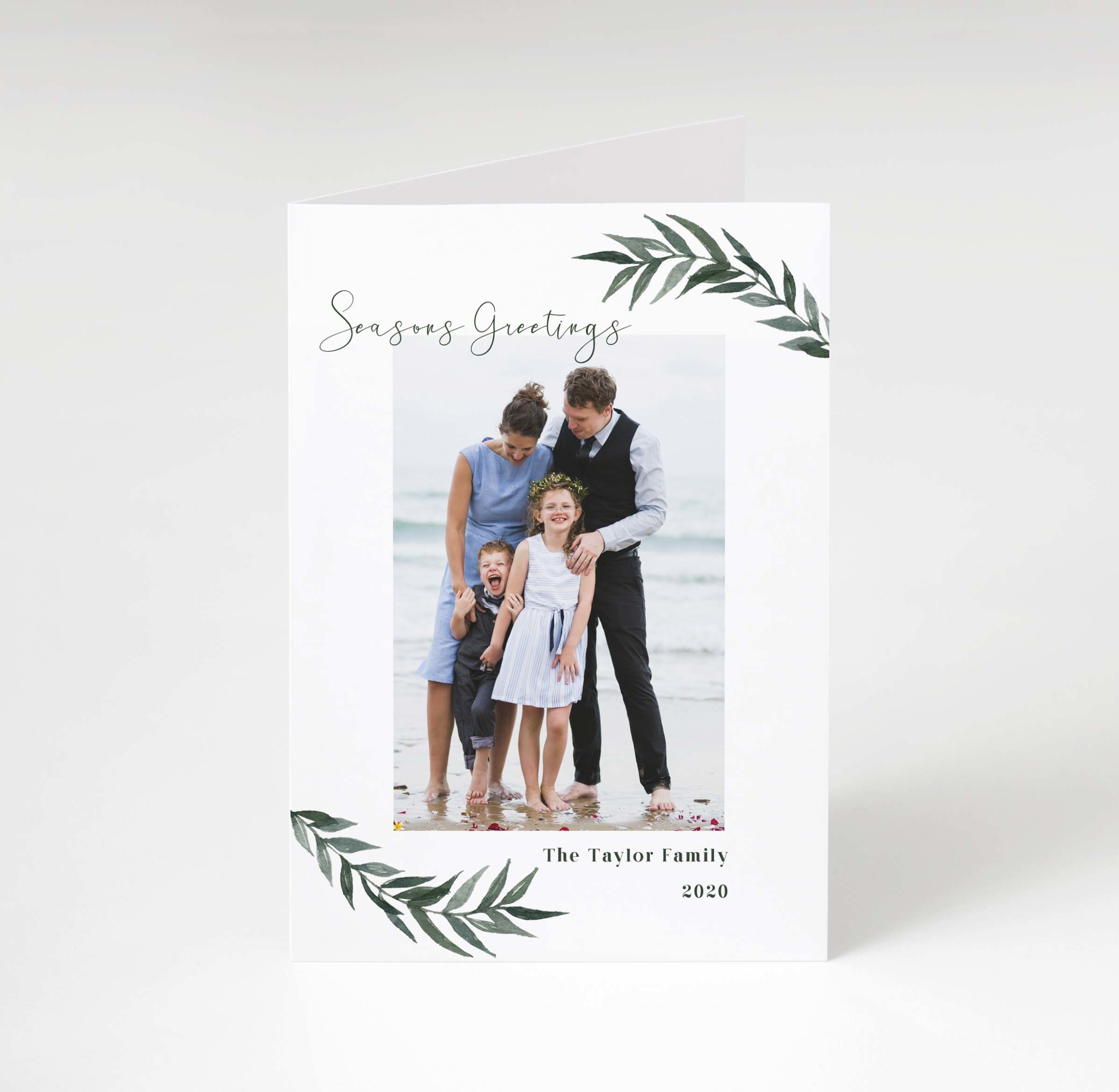 Green Boughs Holiday Card