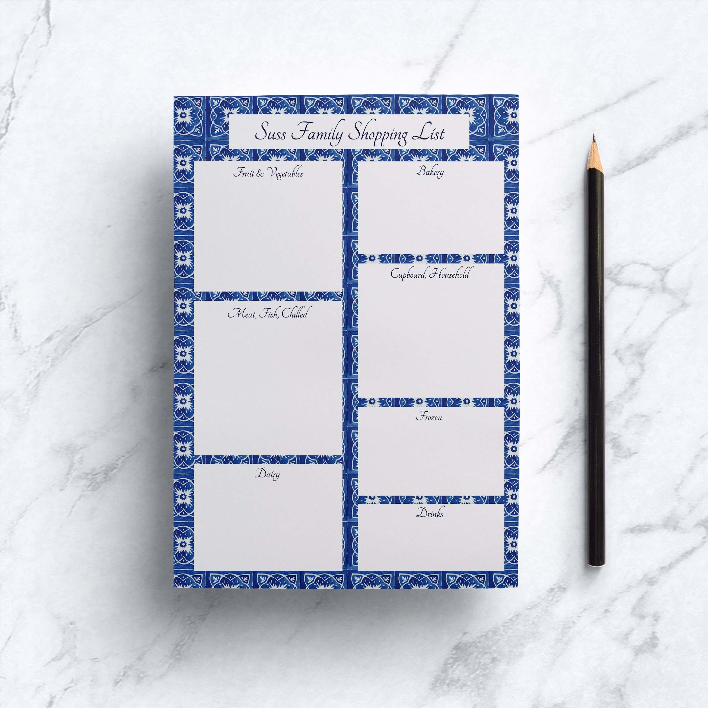 Casablanca Tile Shopping List Notepad