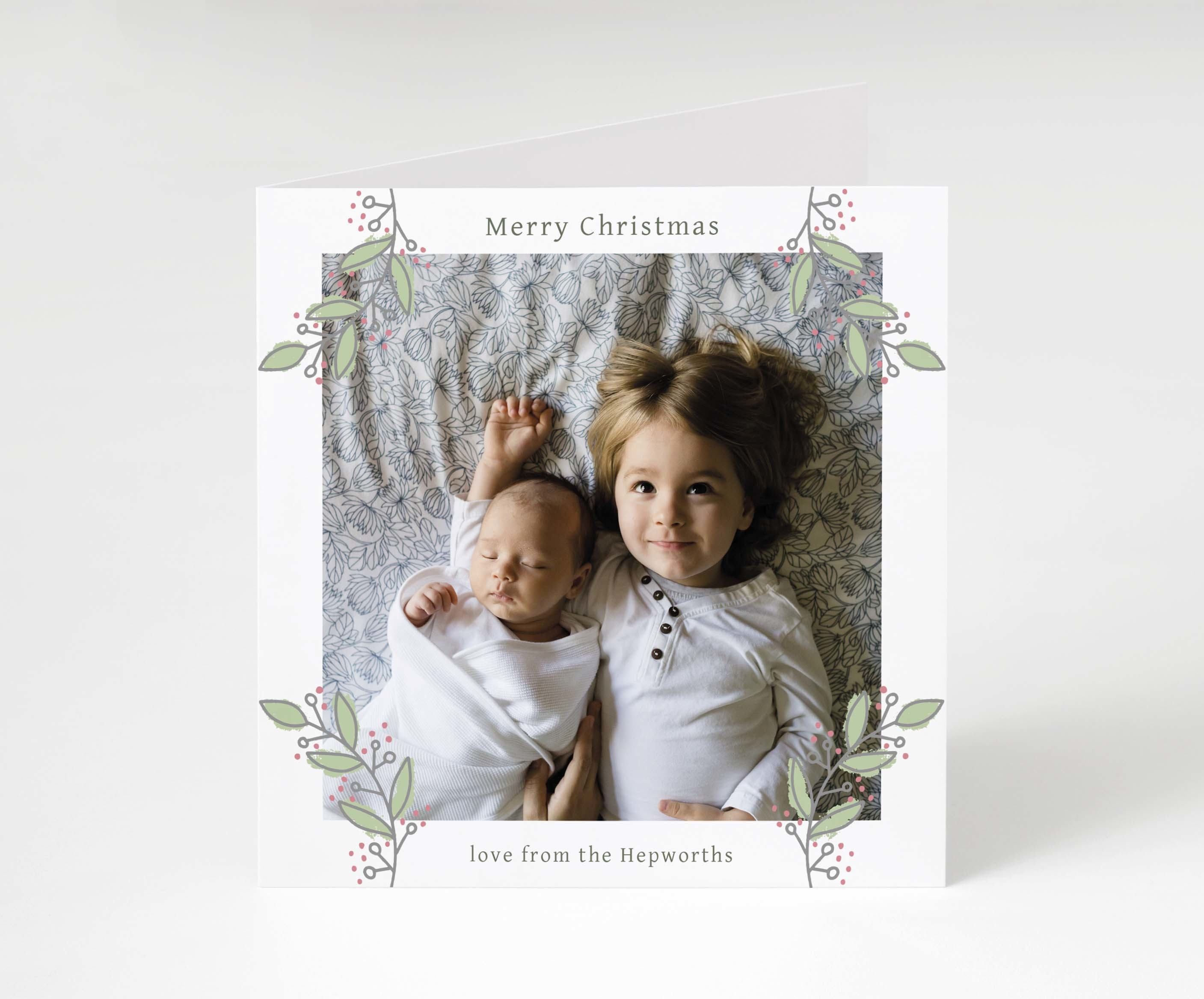 Holly Berry Holiday Card