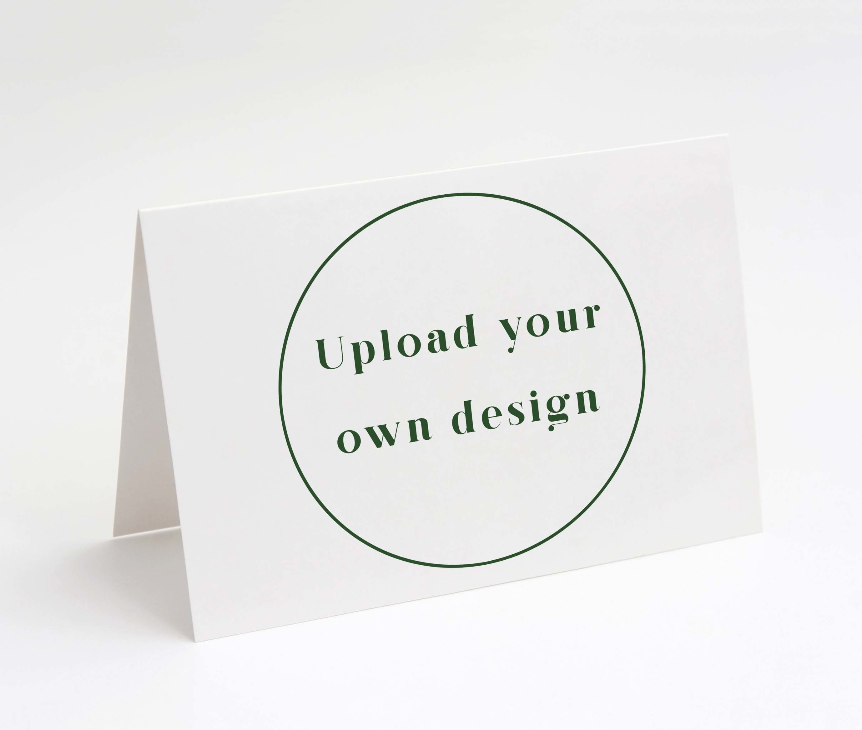 Design Your Own Folded Card - Landscape