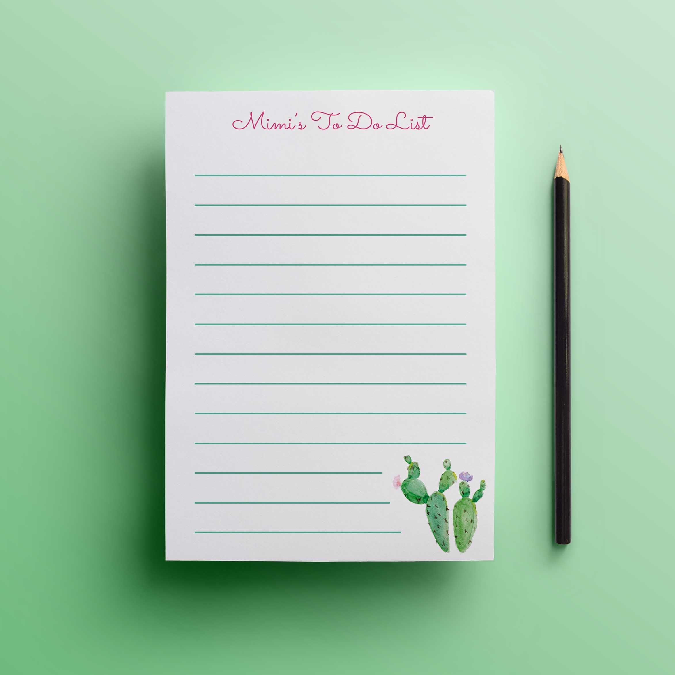 Cactus Flower To Do List